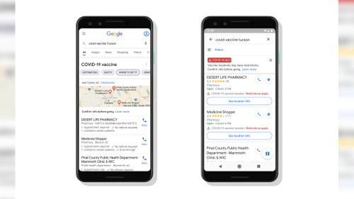 Image for Google Maps will soon display Covid-19 vaccination sites