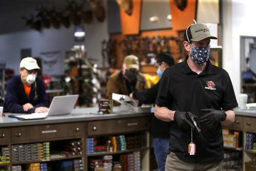 Image for Gun and ammunition sales soar as defund-the-police movement grows