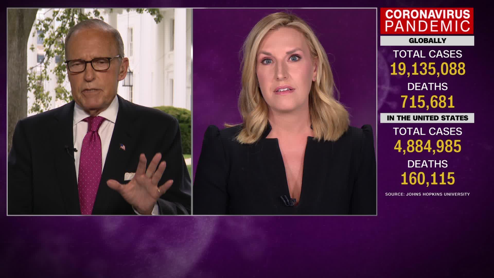 In a heated exchange, CNN's Poppy Harlow confronts Trump's top economic adviser