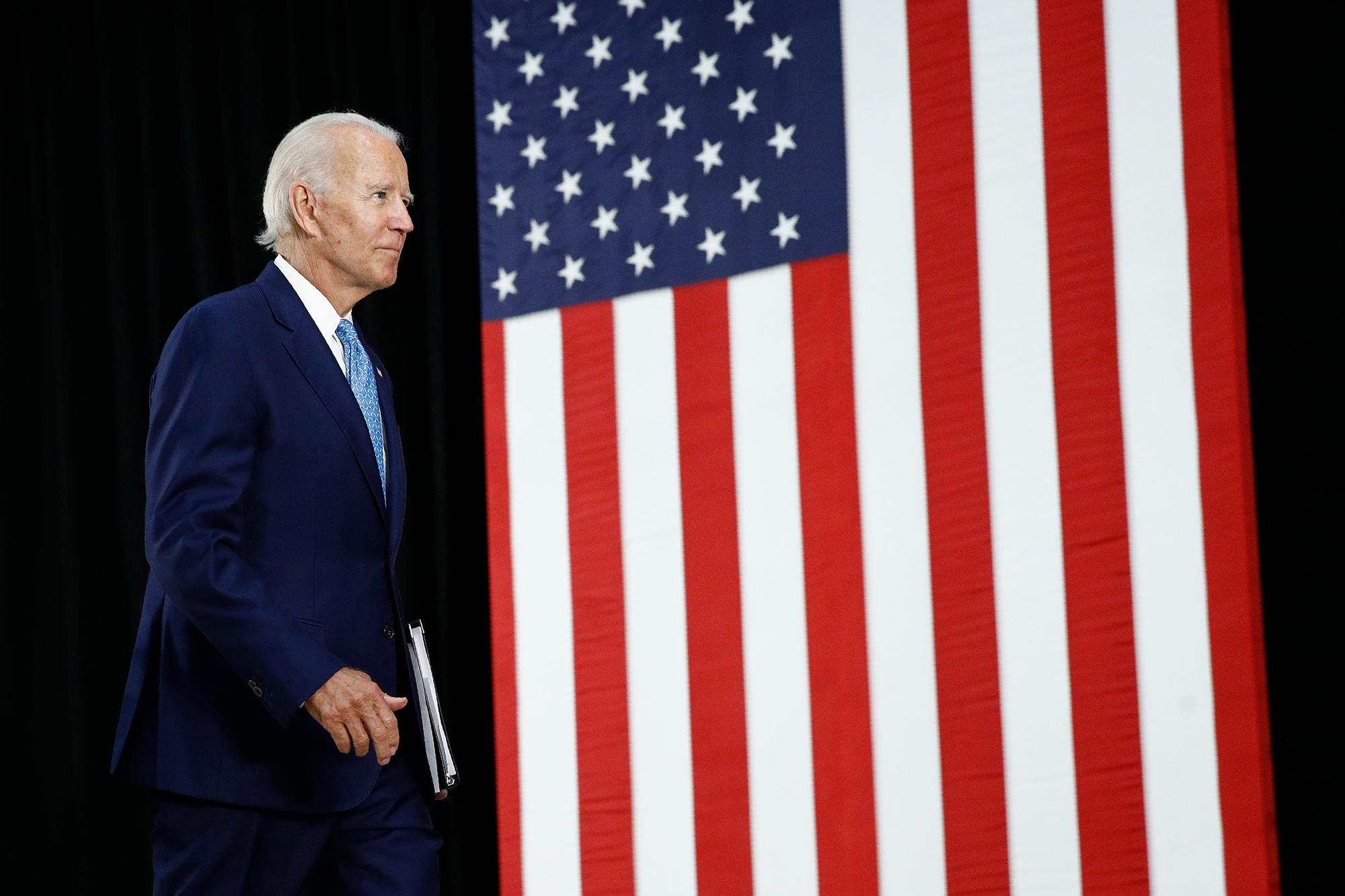 Trump warns stocks will 'disintegrate' if he loses. But stocks are climbing as Biden pulls ahead