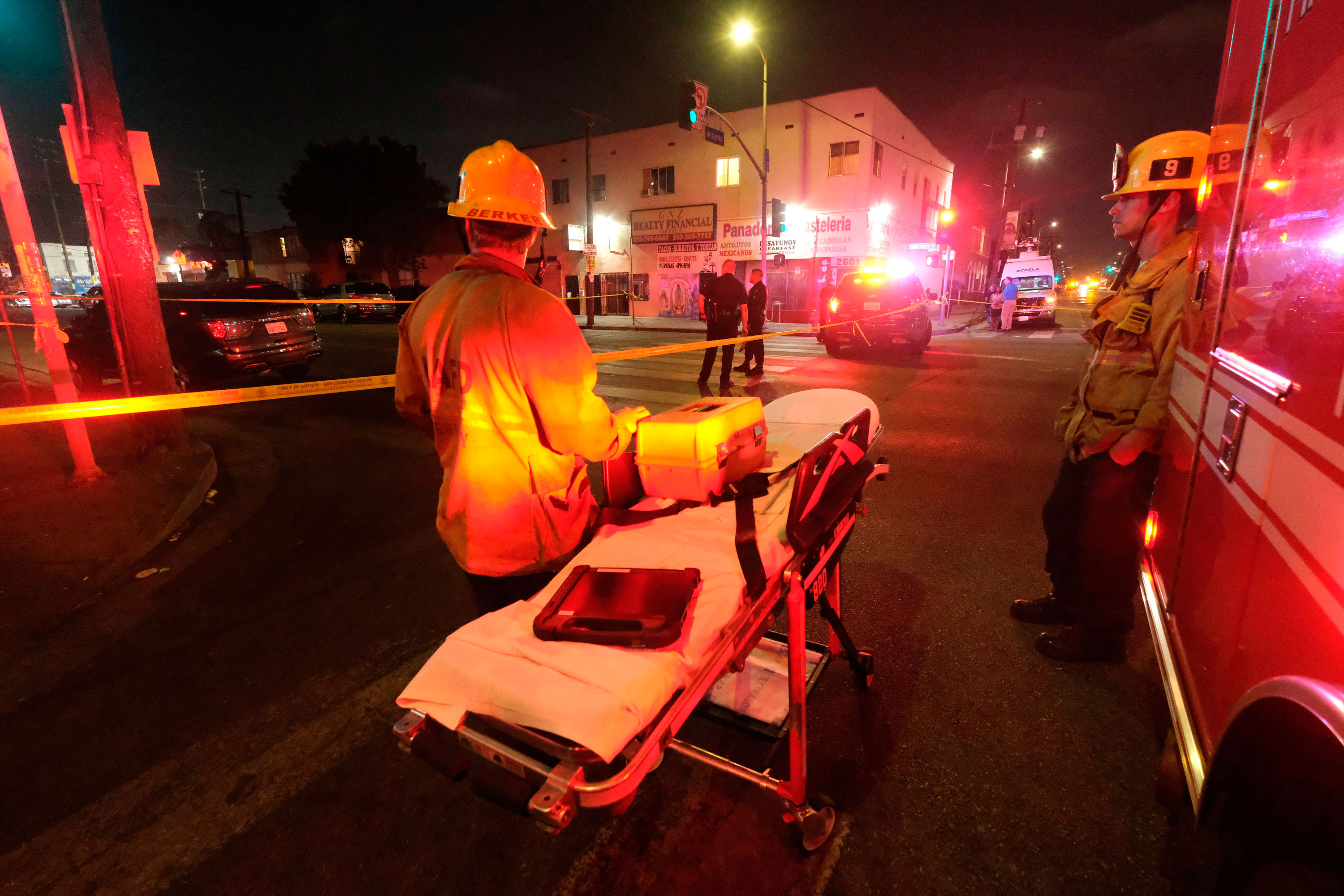 17 injured after an explosion inside a Los Angeles police bomb disposal truck