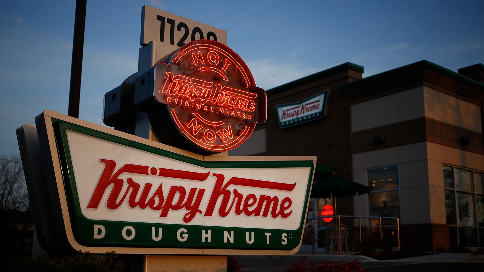 Krispy Kreme shares pop in its second public debut