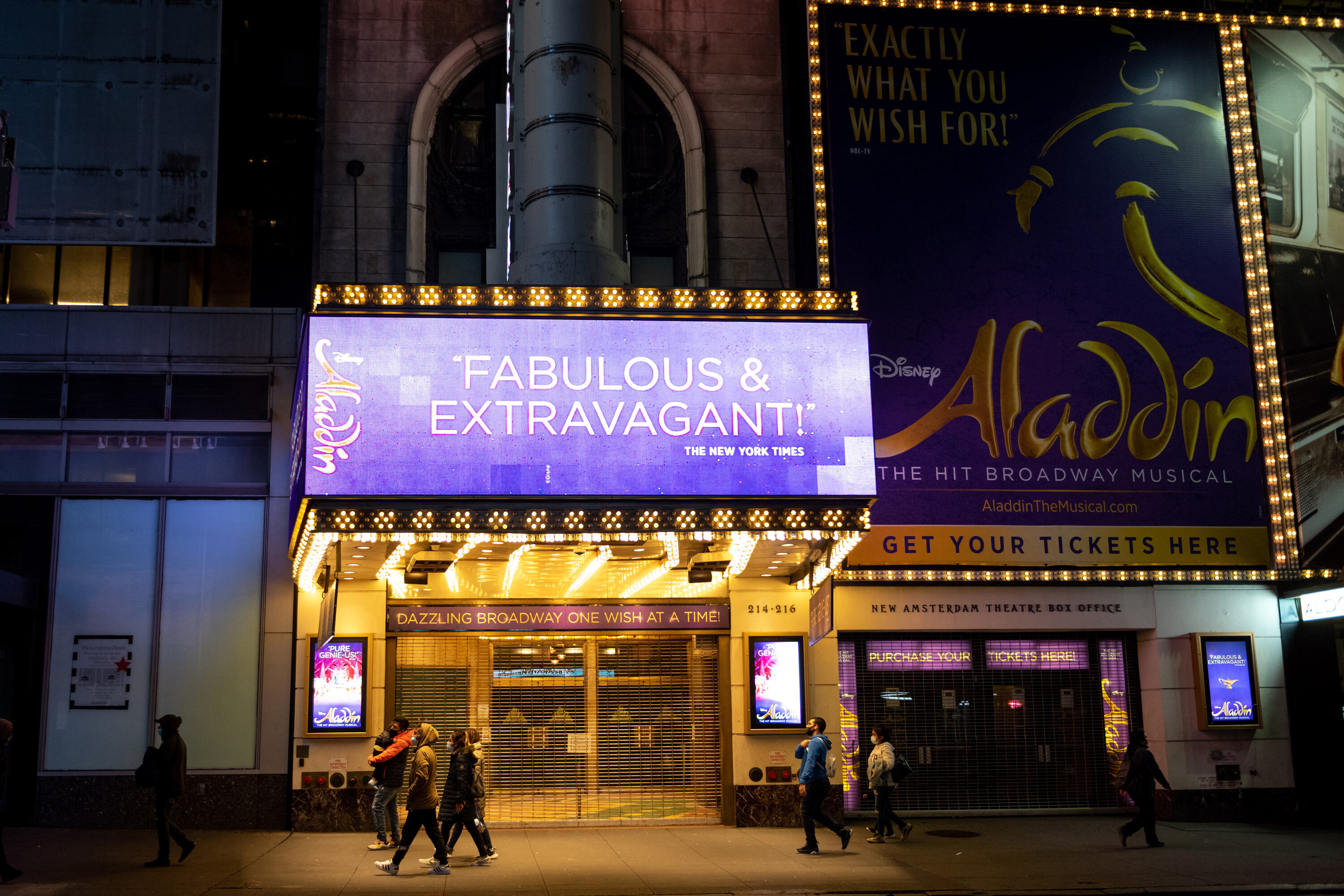'Aladdin' Broadway show cancels performances until October 12 because of more Covid-19 cases