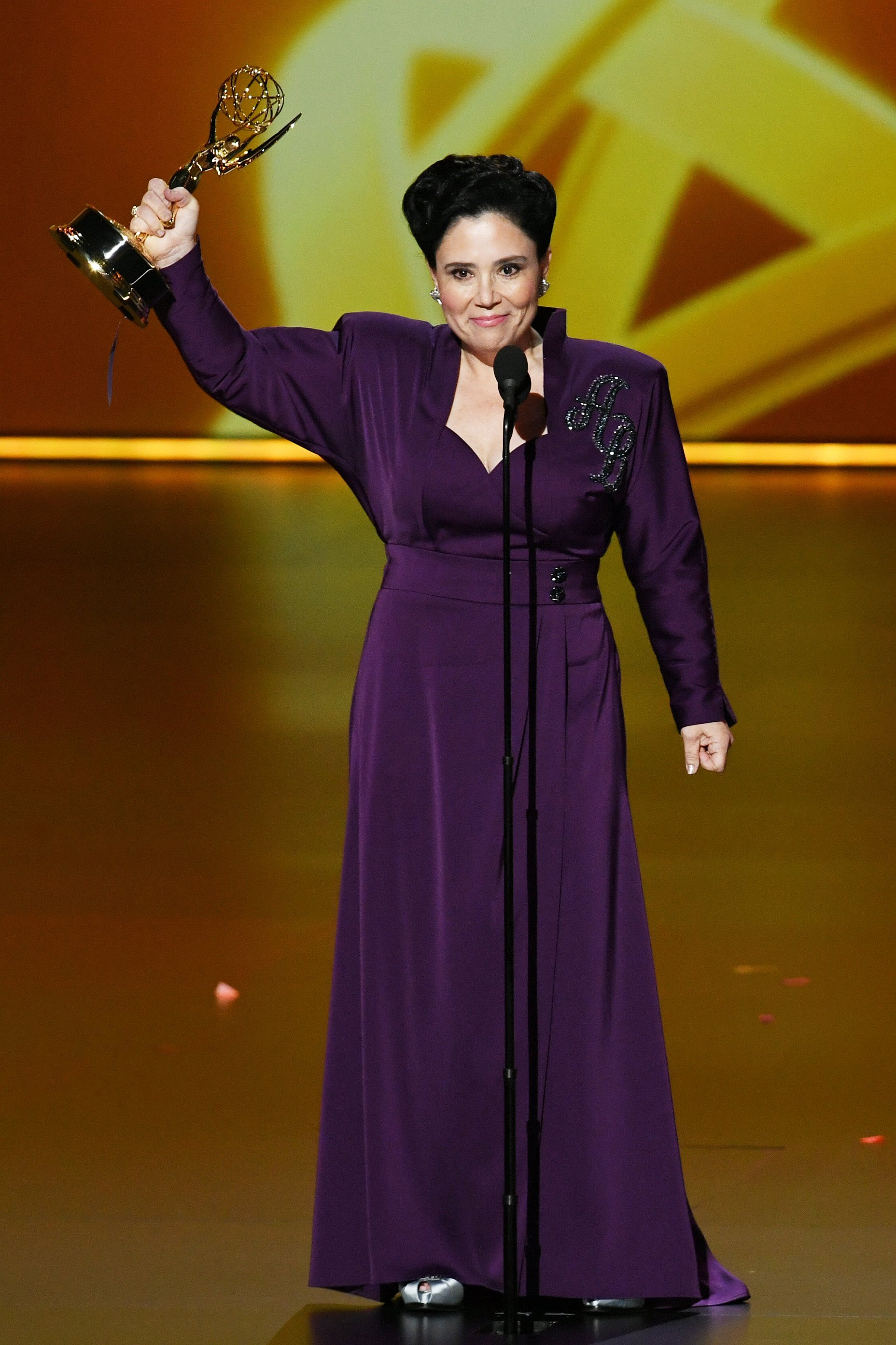 Alex Borstein calls on women to 'step out of line' in moving Emmy speech