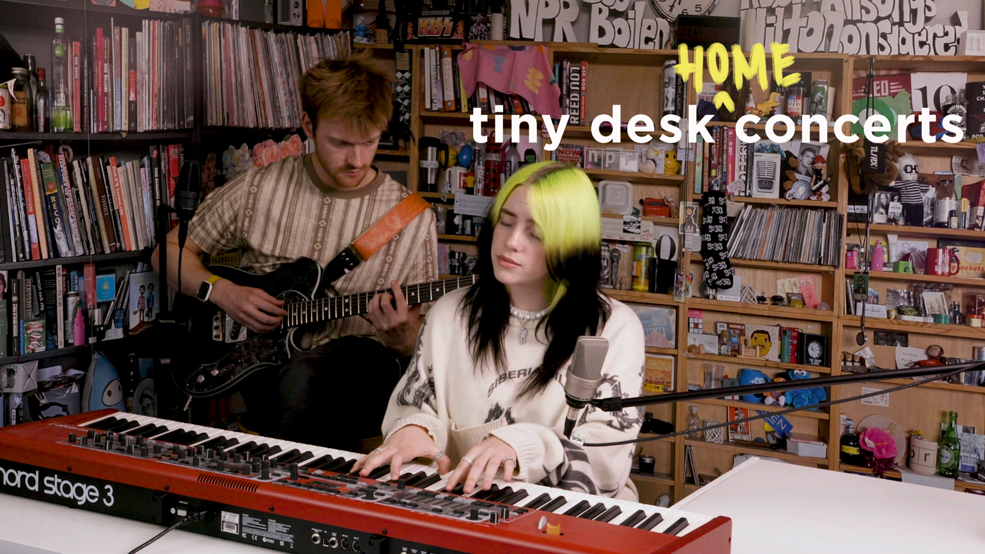 Billie Eilish and Finneas pull off an NPR 'Tiny Desk Concert' from home