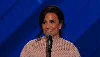 Demi Lovato performs an emotional 'Skyscraper' for Living Room Concert