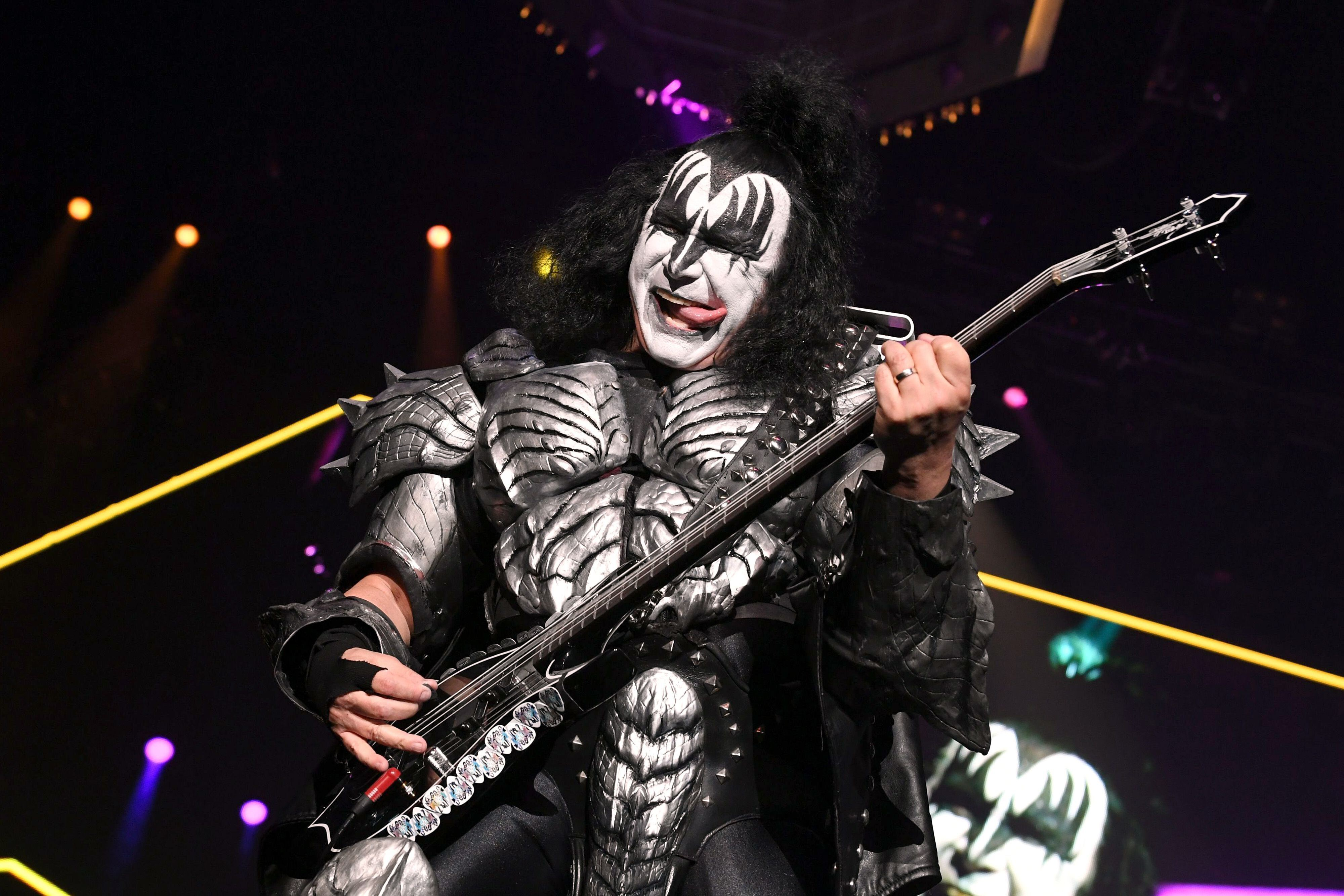 When Gene Simmons isn't performing with KISS, you can find him painting