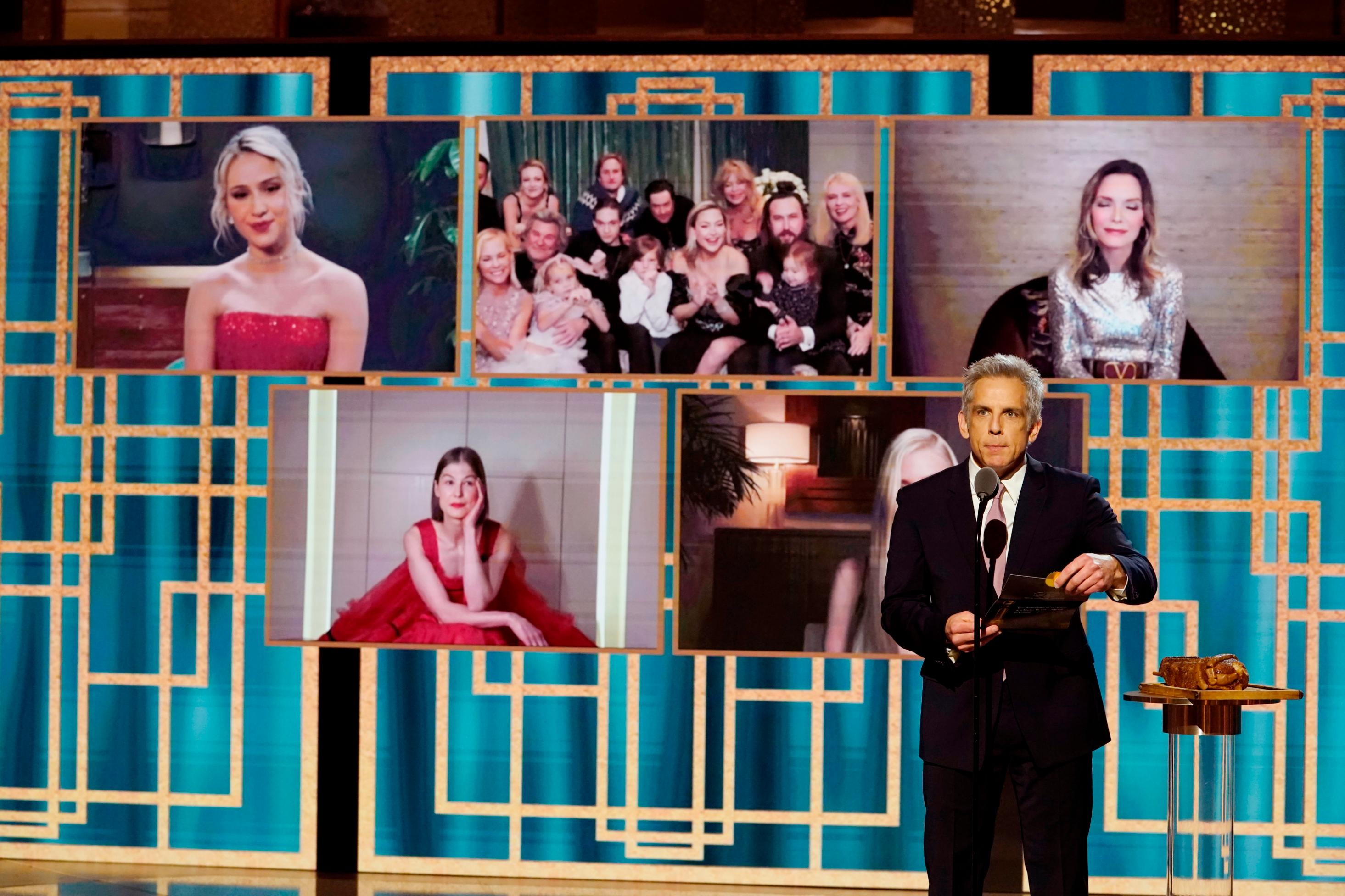 Jason Sudeikis and nominees who nailed the whole virtual Golden Globes thing