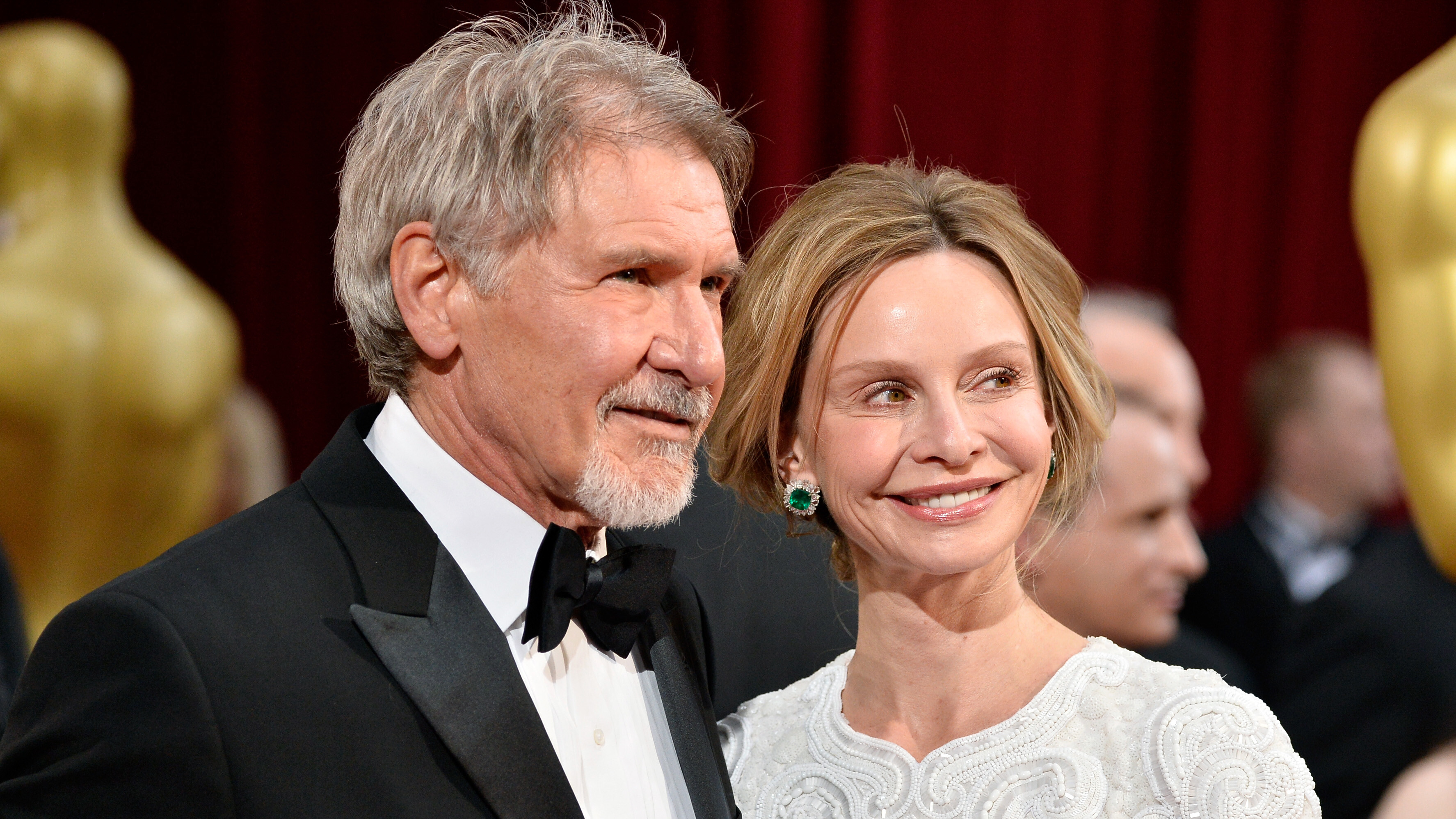 Harrison Ford spotted in rare appearance with wife Calista Flockhart