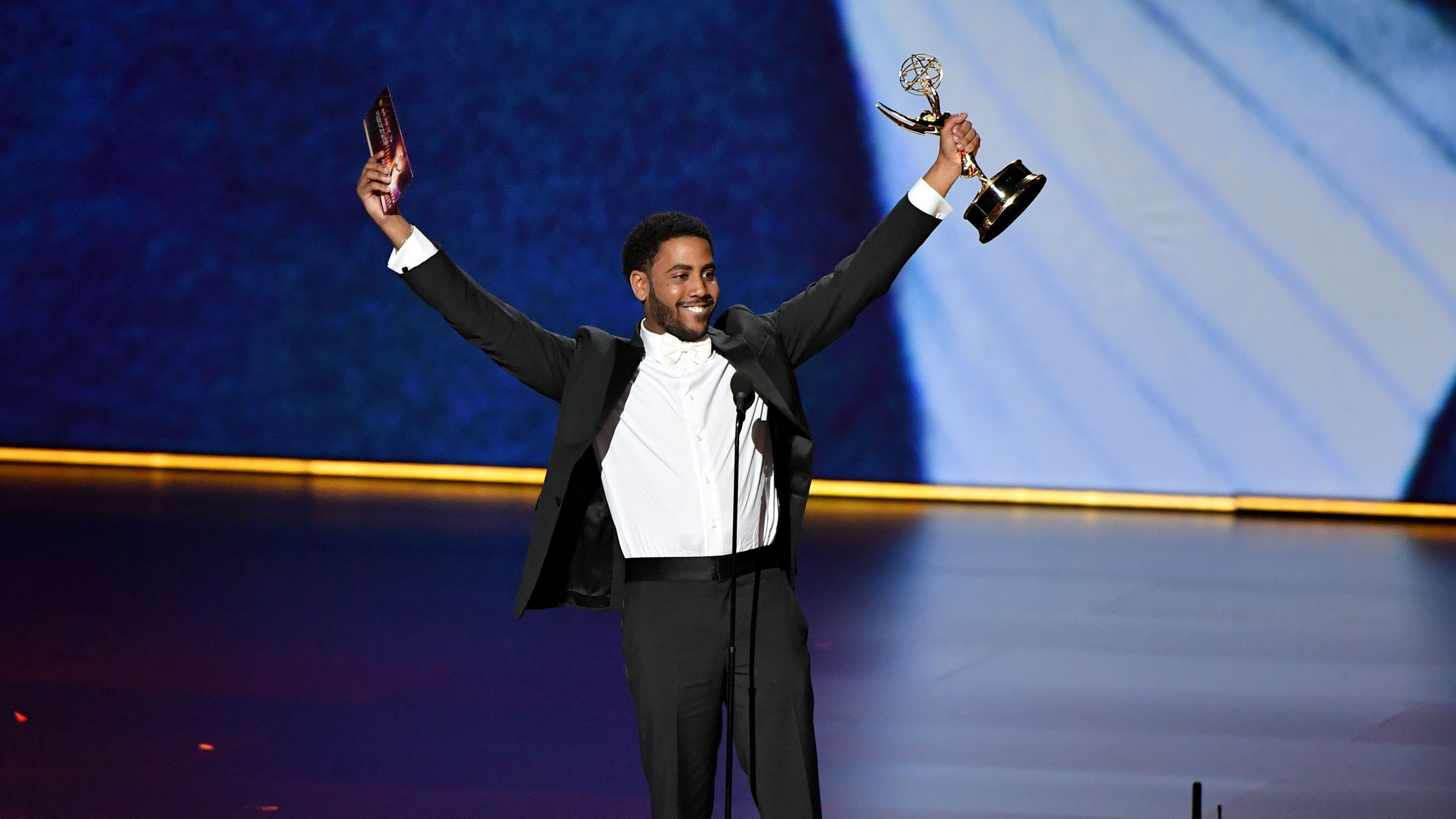 Jharrel Jerome pays tribute to exonerated Central Park Five in Emmy acceptance speech