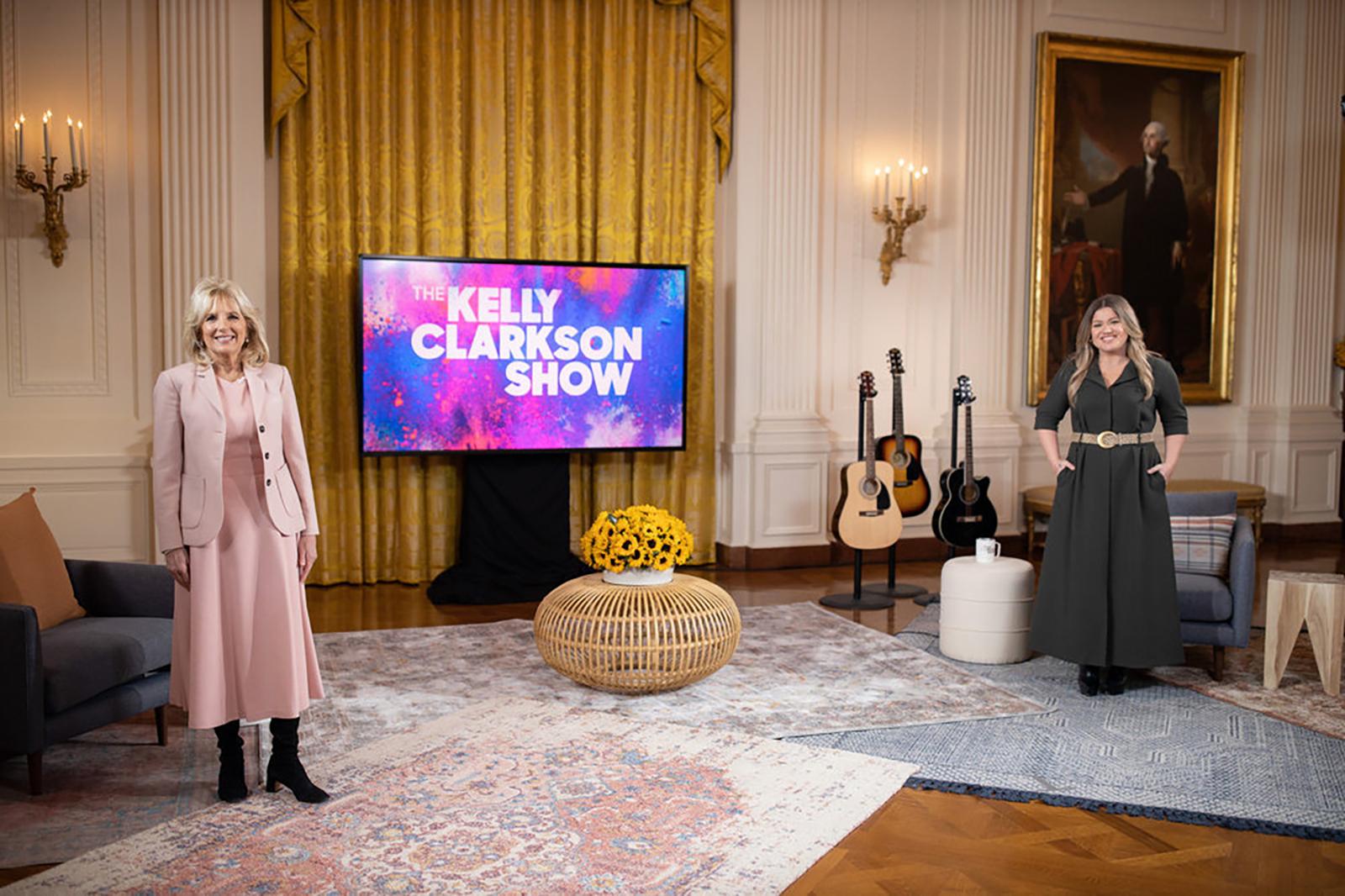 Jill Biden gives Kelly Clarkson advice on her divorce