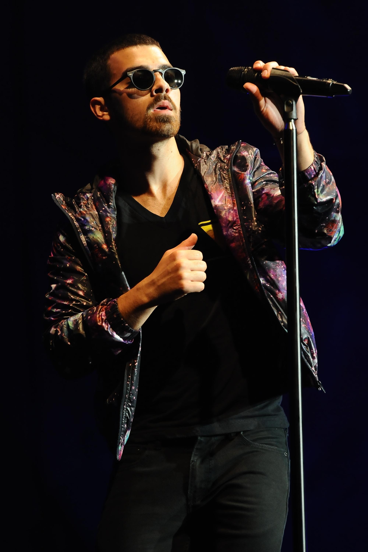 Joe Jonas crashed a Jonas Brothers-themed spin class