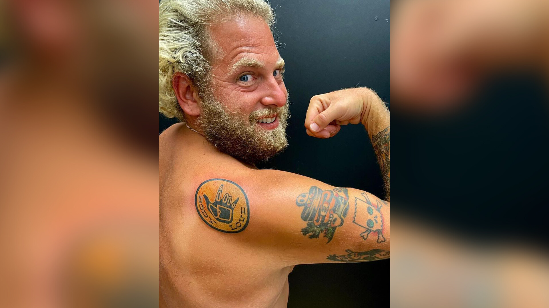 Jonah Hill debuts body positivity tattoo