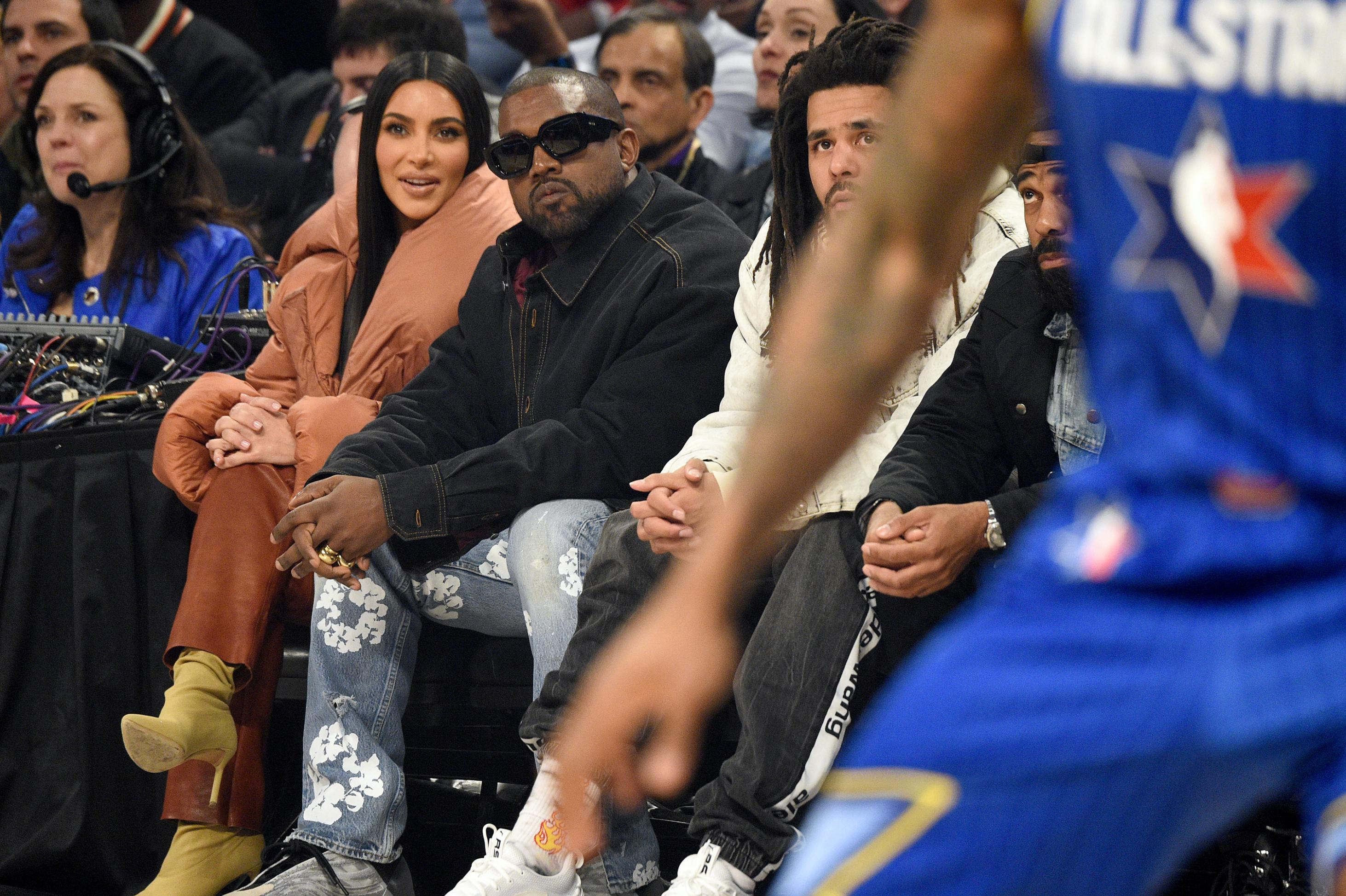 Kanye West attended the All-Star game but didn't perform