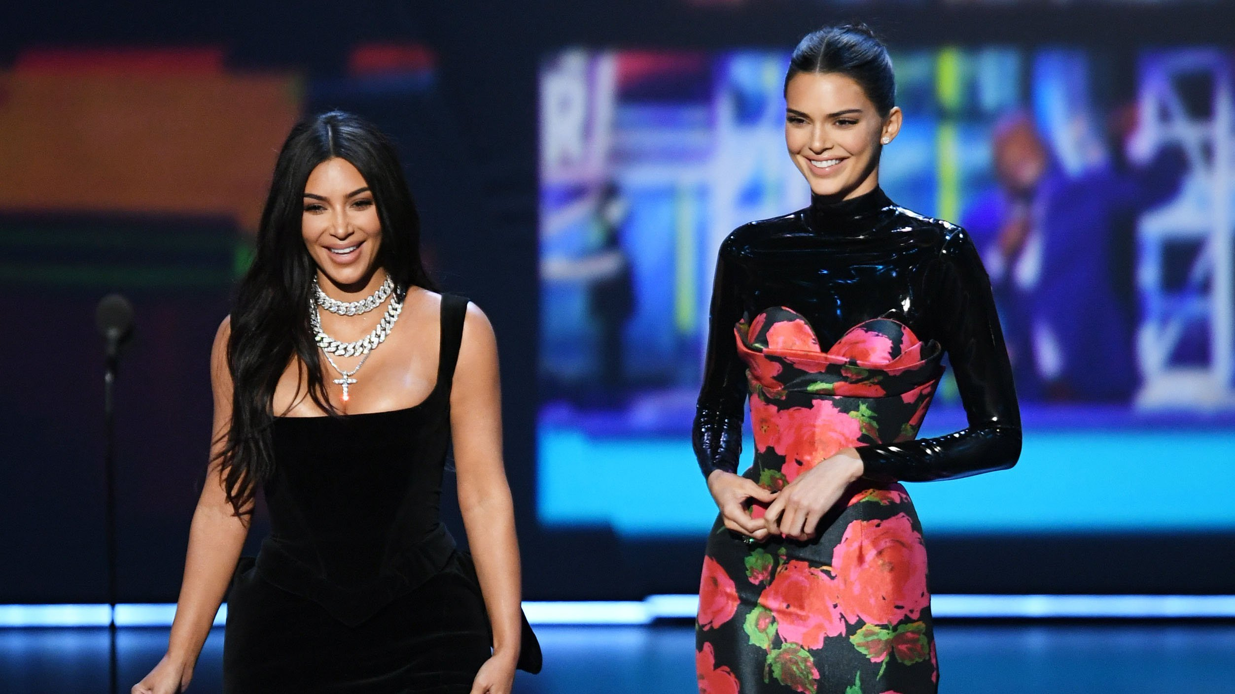 Kim Kardashian and Kendall Jenner mocked for Emmys speech