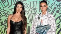 Kim Kardashian West appears to throw a punch at her sister, Kourtney Kardashian