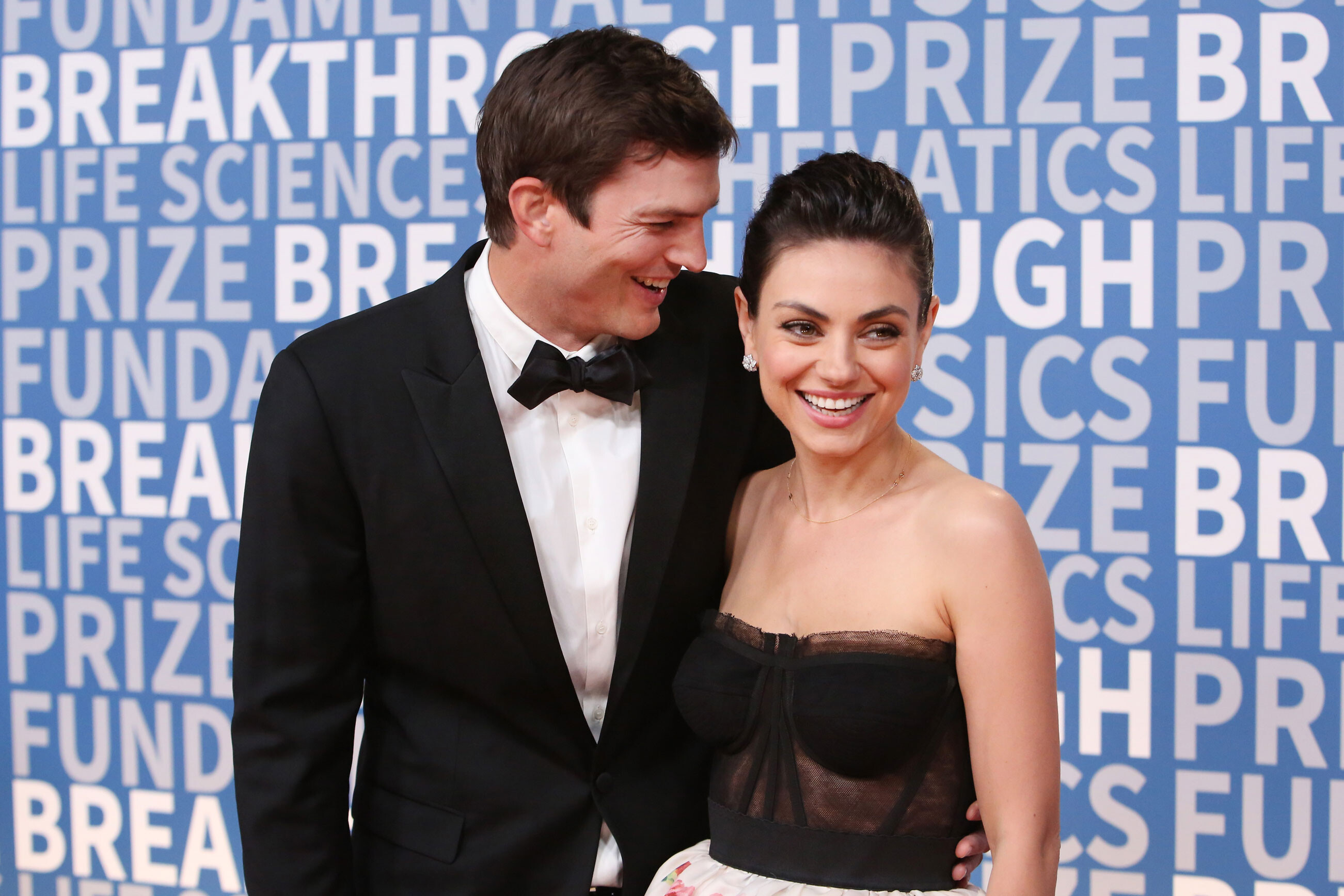 Ashton Kutcher and Mila Kunis prove their family is actually in favor of showering