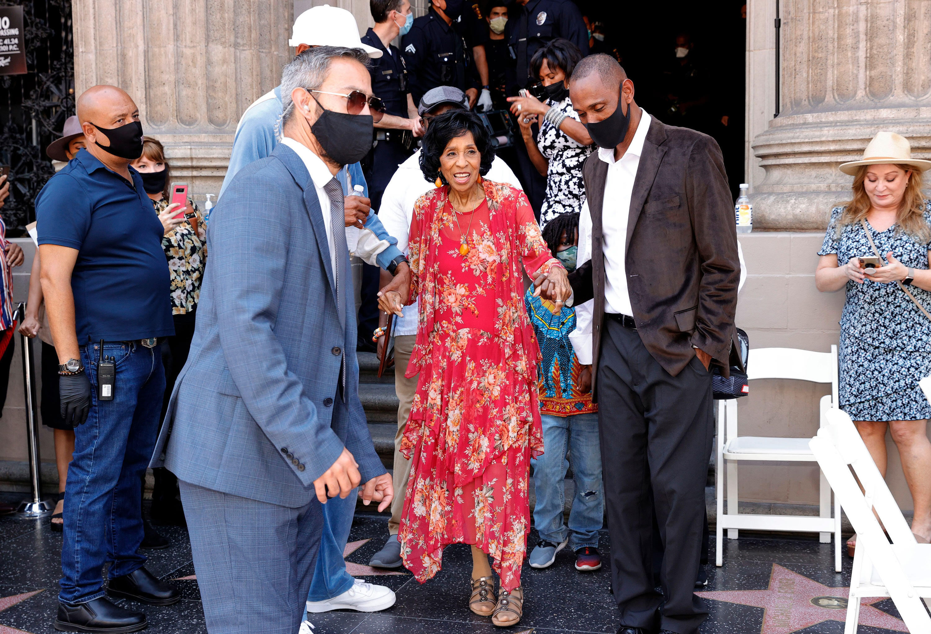 Marla Gibbs' scary moment at her Hollywood Walk of Fame unveiling