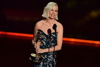 Michelle Williams calls for gender pay parity in Emmy acceptance speech
