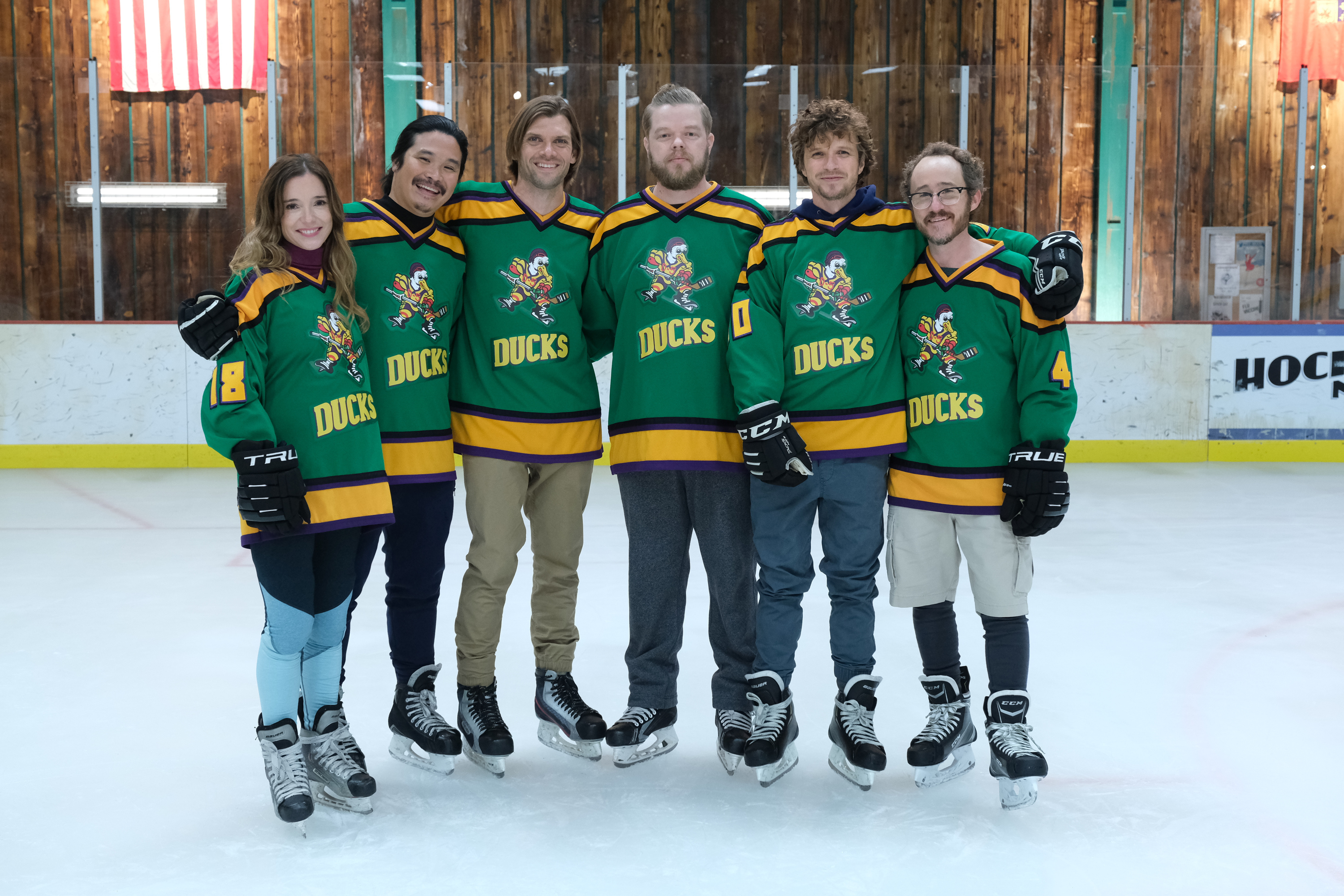 """""""Mighty Ducks: Game Changers"""" stages reunion with possibly more familiar faces to come — and maybe Aaron Rodgers"""