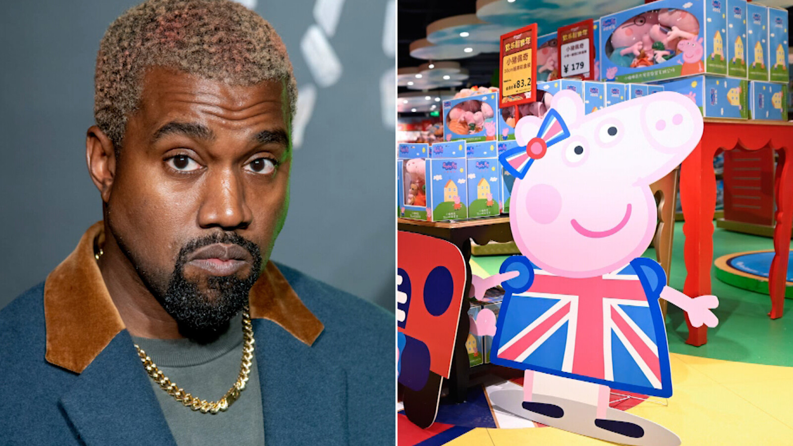 Peppa Pig appears to have trolled Kanye West