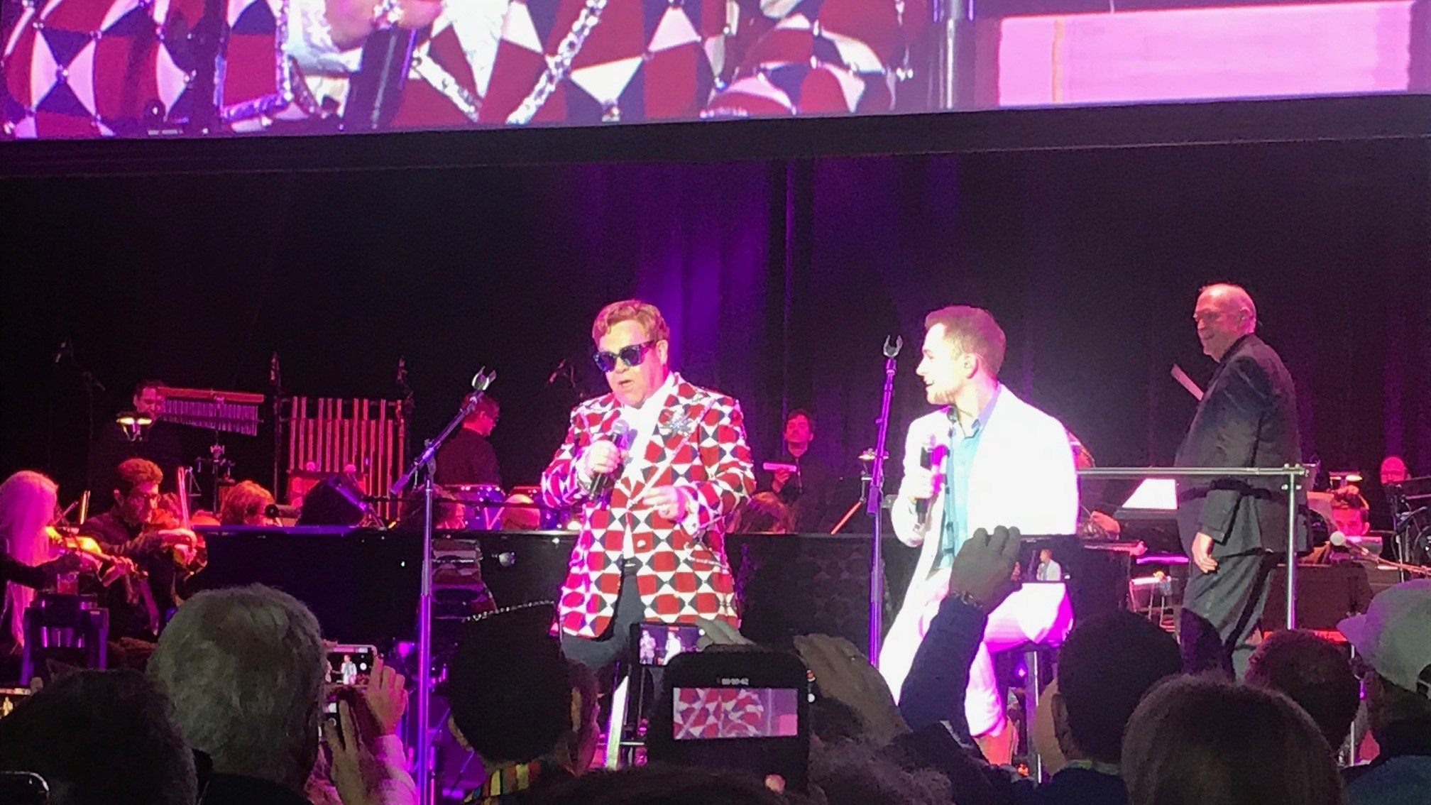 Elton John and Taron Egerton's  '(I'm Gonna) Love Me Again' shines at 'Rocketman' screening