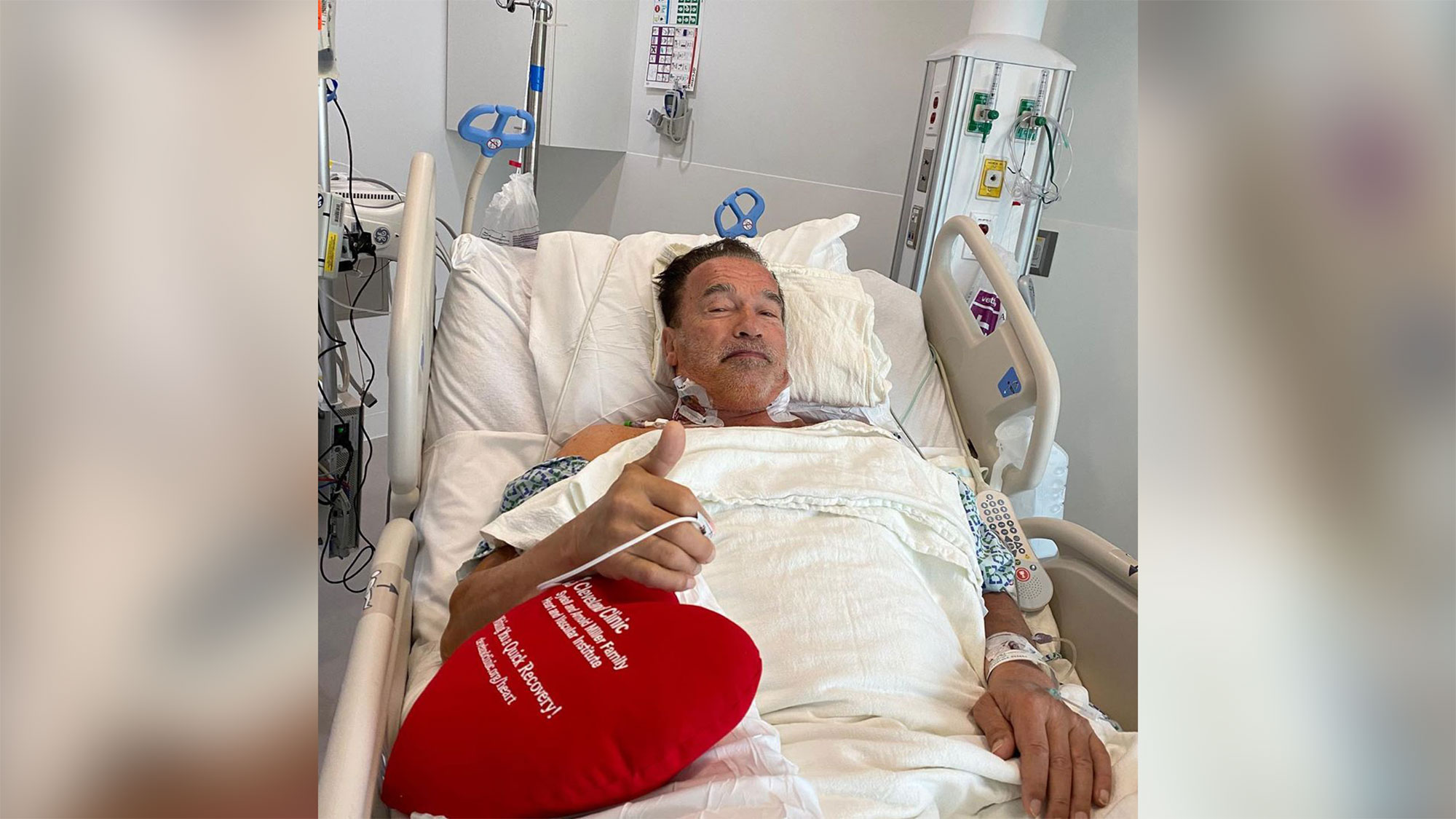 Arnold Schwarzenegger says he feels 'fantastic' after undergoing heart surgery