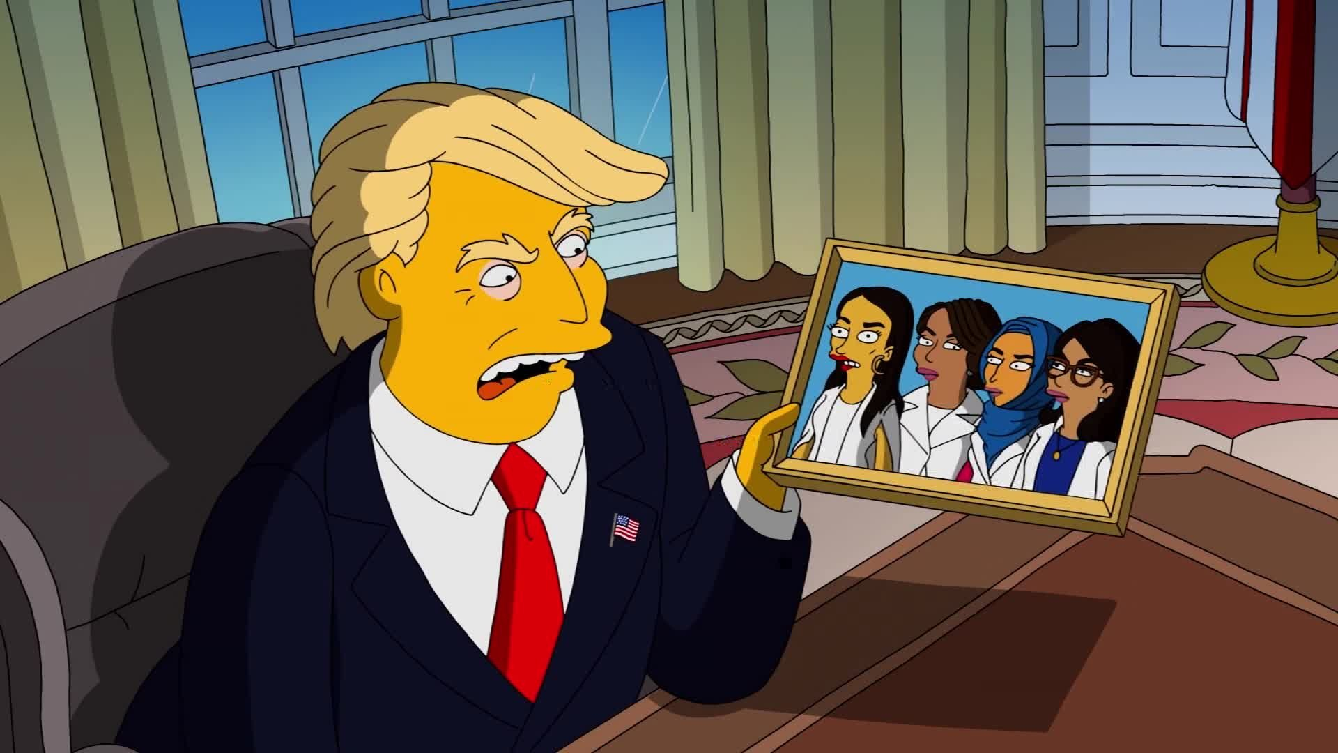 Trump's latest fight with the Squad is in a song on 'The Simpsons'