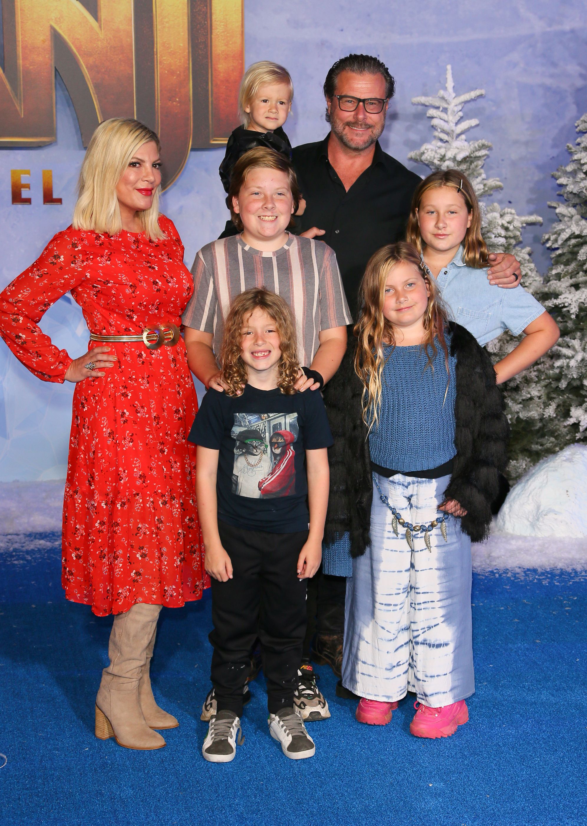 Tori Spelling says she's co-sleeping with four of her children