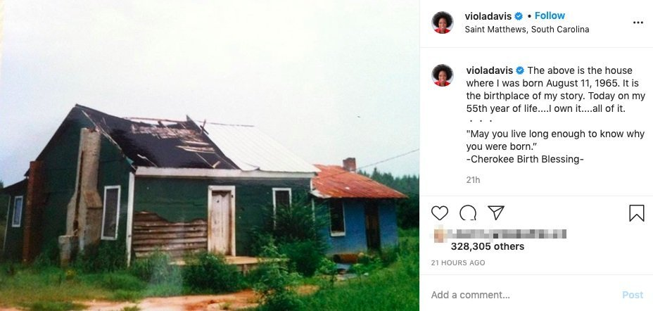 Viola Davis bought her birthplace on a former slave plantation for her birthday