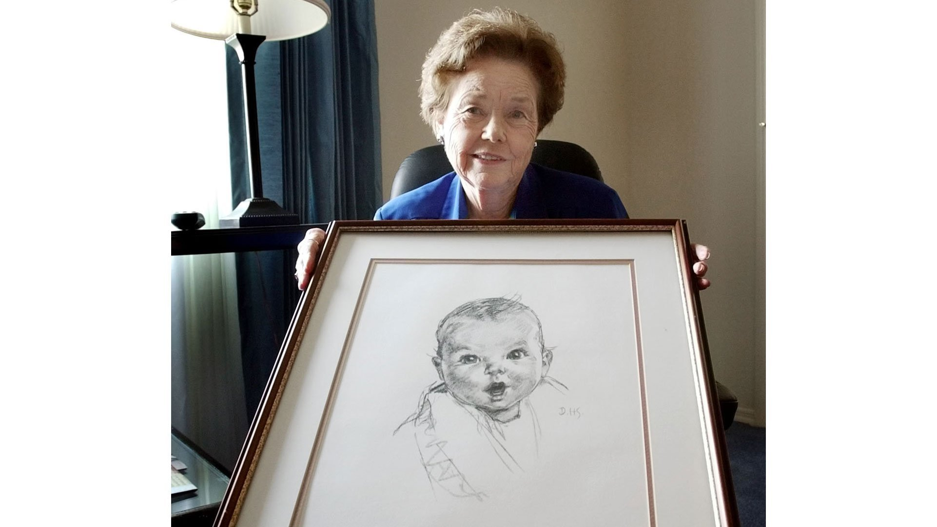 The original Gerber baby is not so little anymore. She's now a 93-year-old mystery novelist