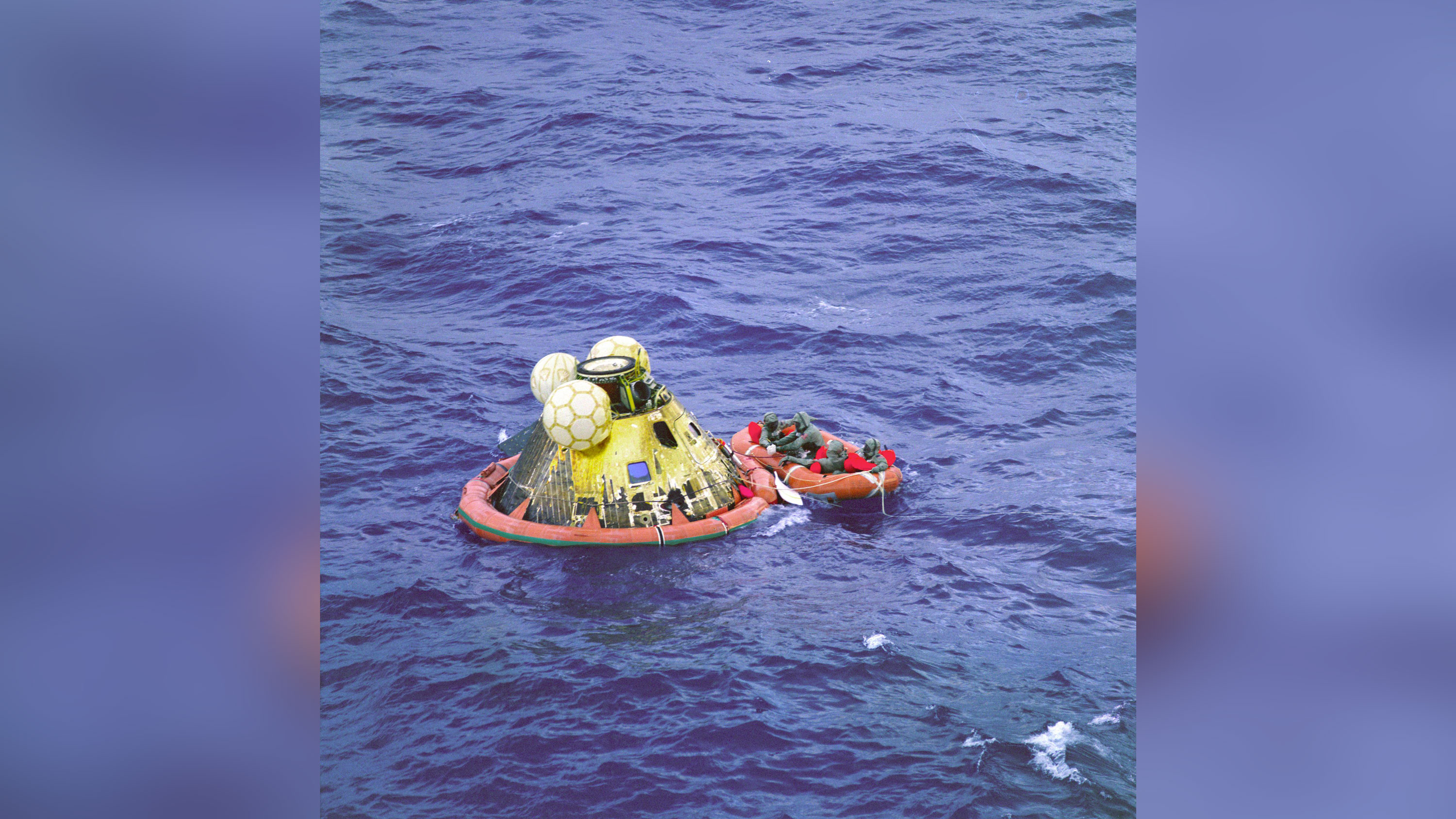 The Apollo 11 astronauts quarantined after returning to Earth. Here's why