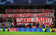 Bayern Munich fans protest at Champions League ticket prices
