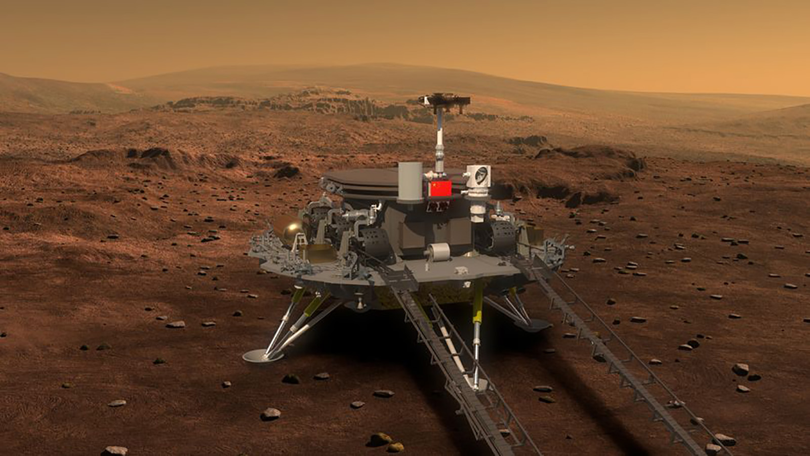 China has successfully landed a rover on Mars, state media says