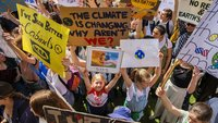 Teen activist tells protesters demanding action on climate change: 'We need to do this now.'