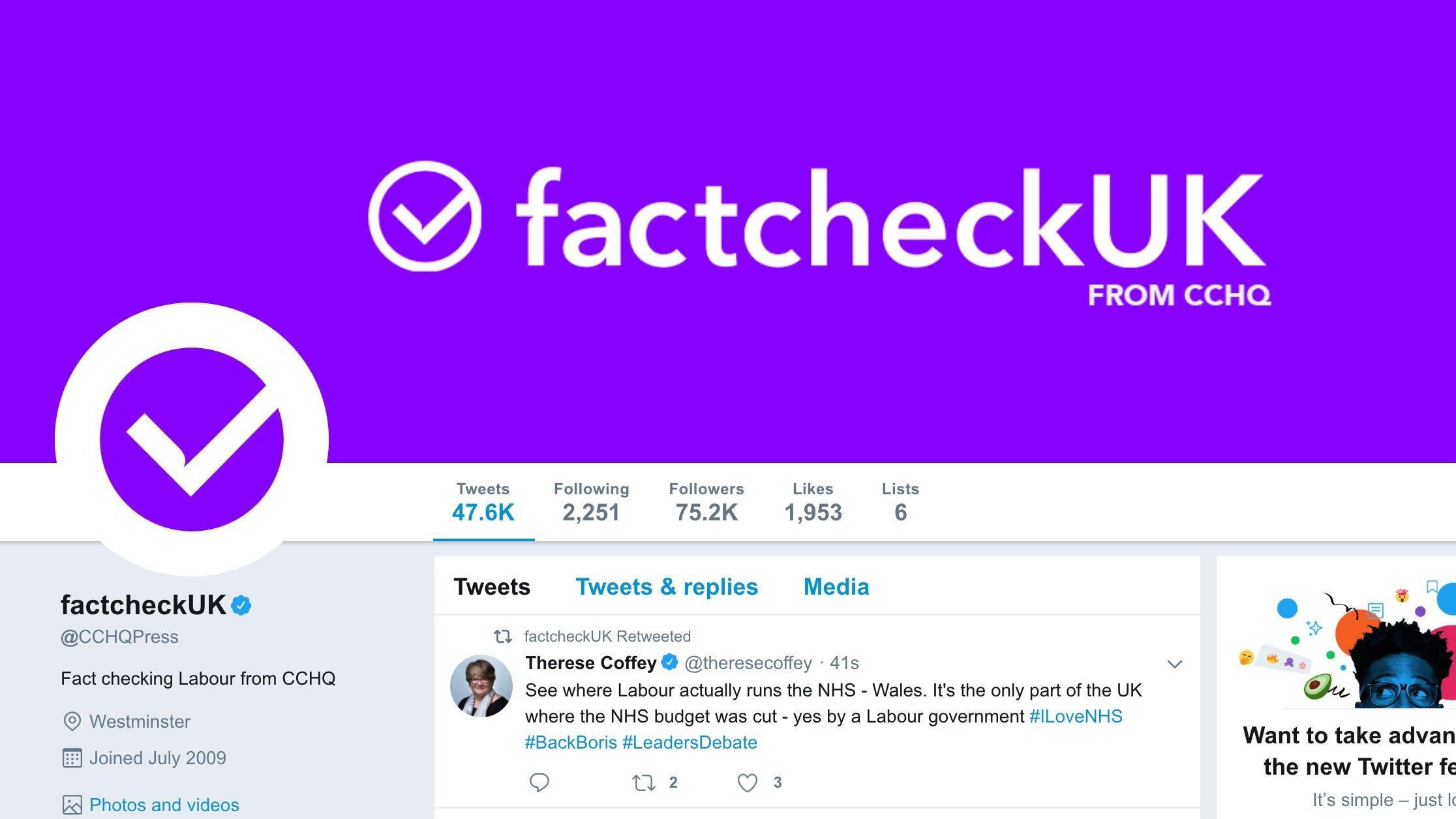 UK Conservatives criticized for 'misleading' Twitter change