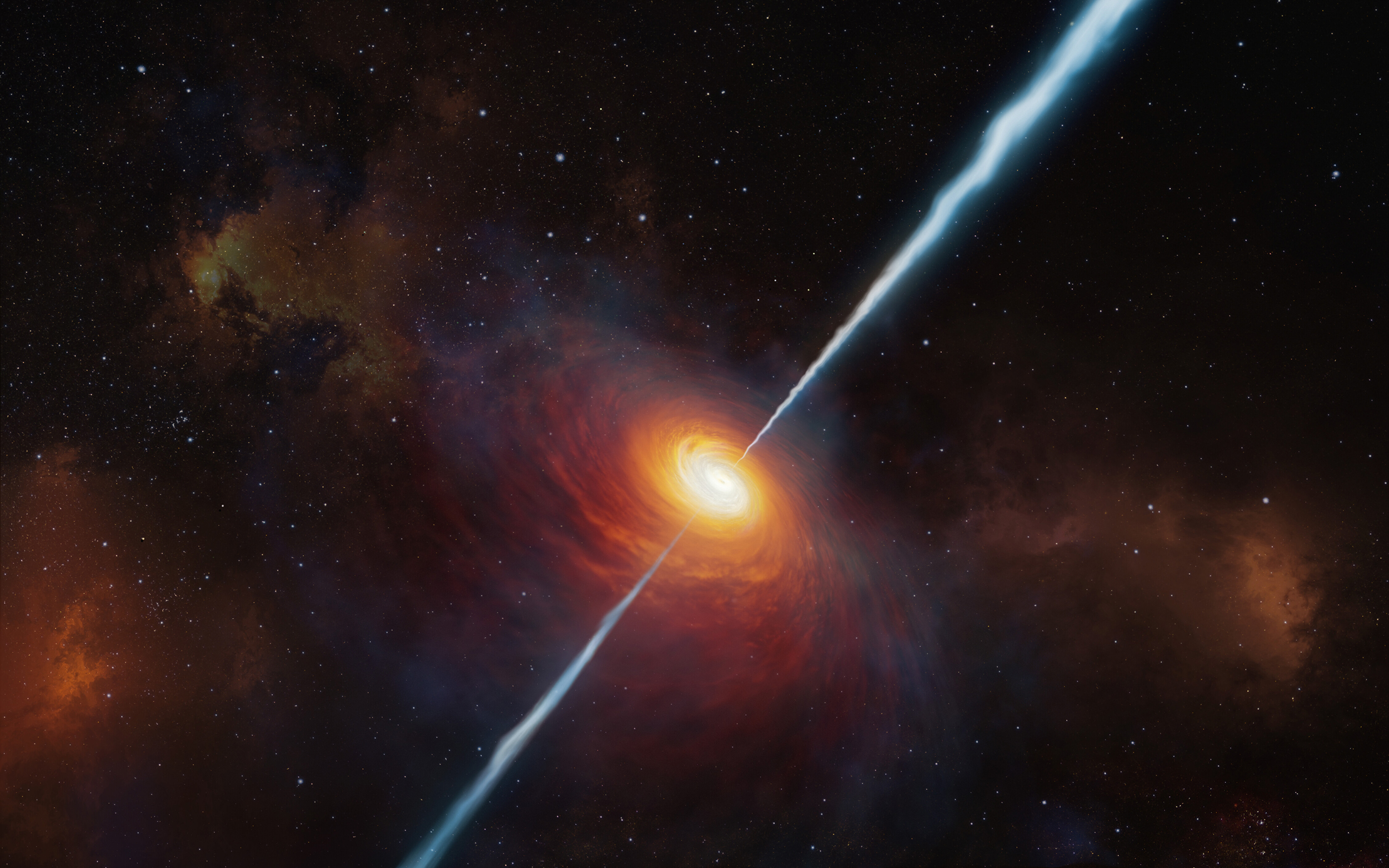 Most distant cosmic jet discovered 13 billion light-years away