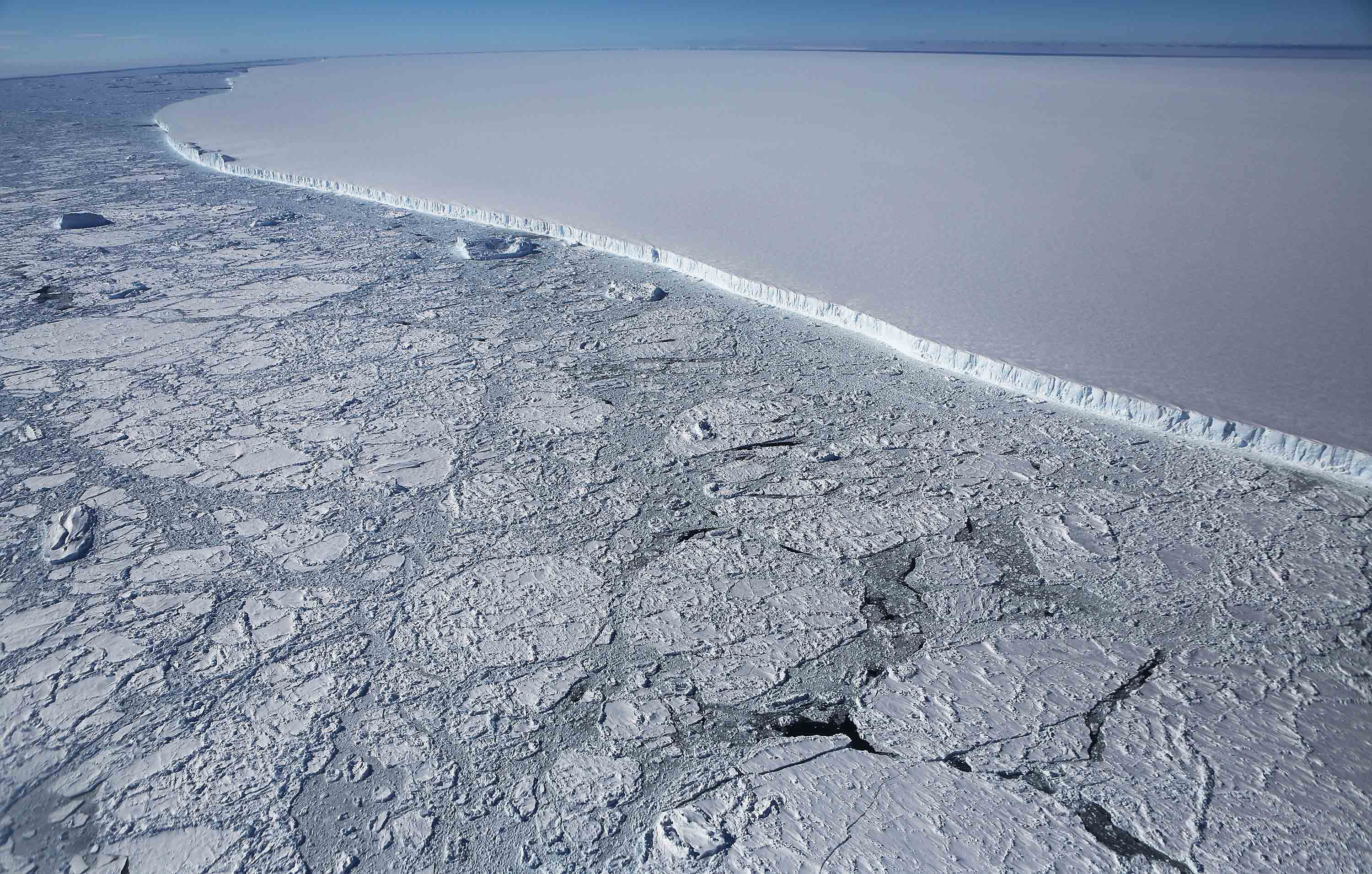A third of Antarctic ice shelf risks collapse as our planet warms