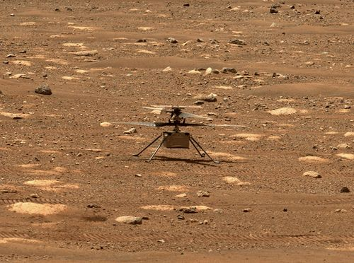 Image for NASA's Mars helicopter Ingenuity successfully completed its historic first flight