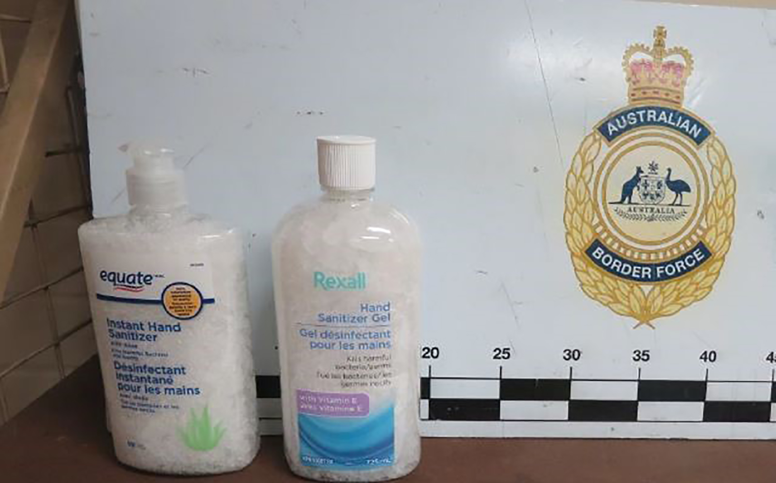 Drug smugglers used bottles of hand sanitizer to conceal meth shipments