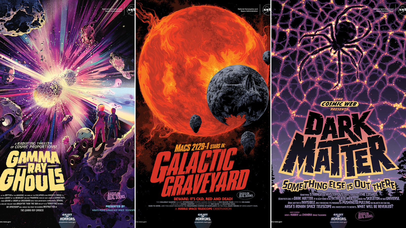 New NASA posters share galactic horrors for Halloween