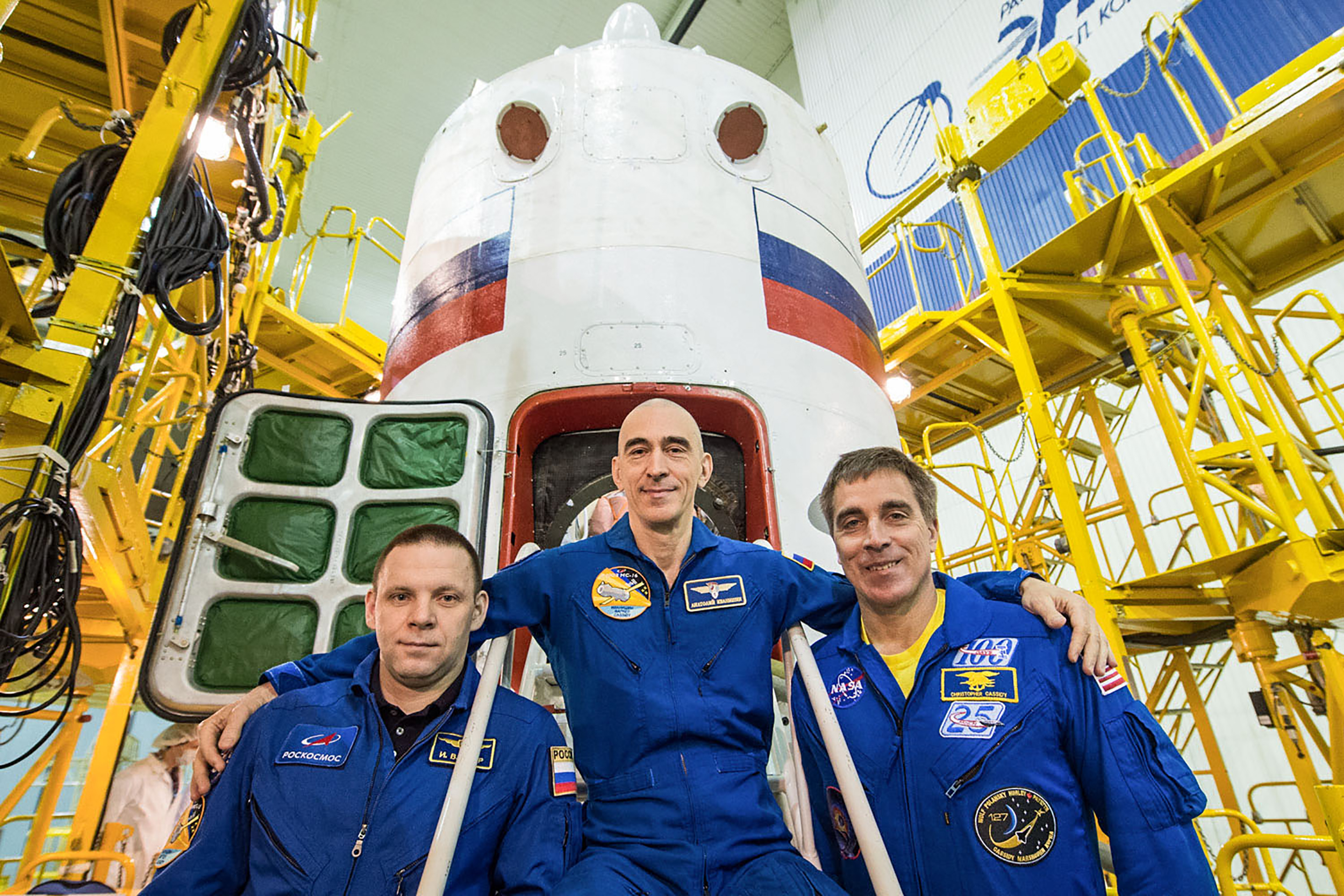 NASA astronaut, Russian cosmonauts launch to the space station during a pandemic