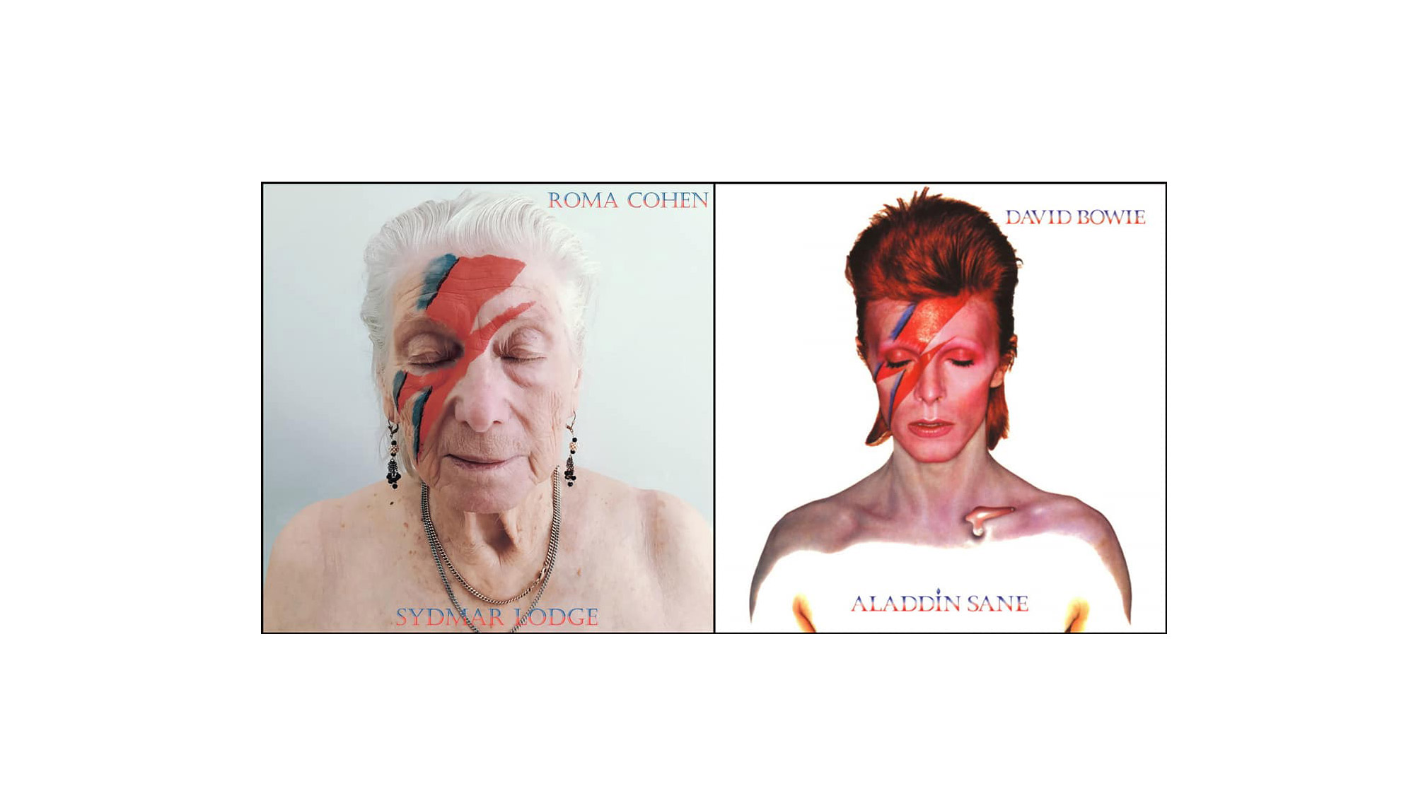 A nursing home in England recreates famous album covers using its residents as models