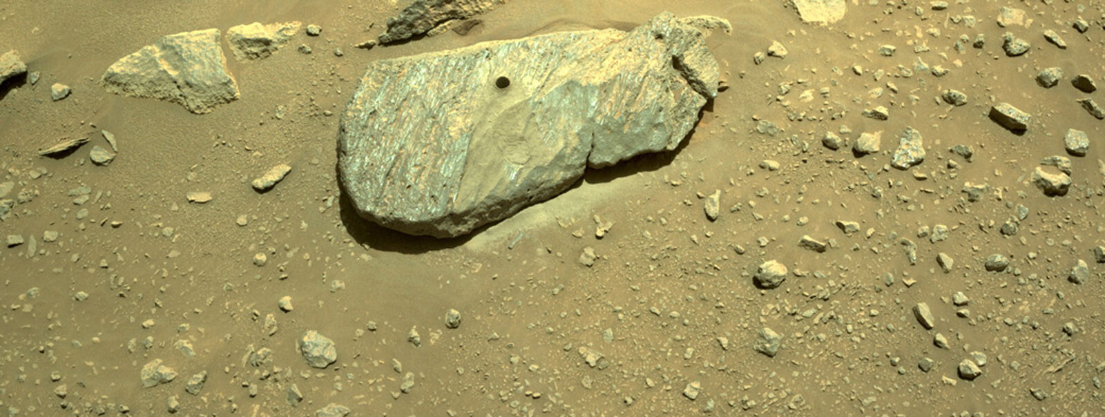 Perseverance rover successfully cores its first rock on Mars