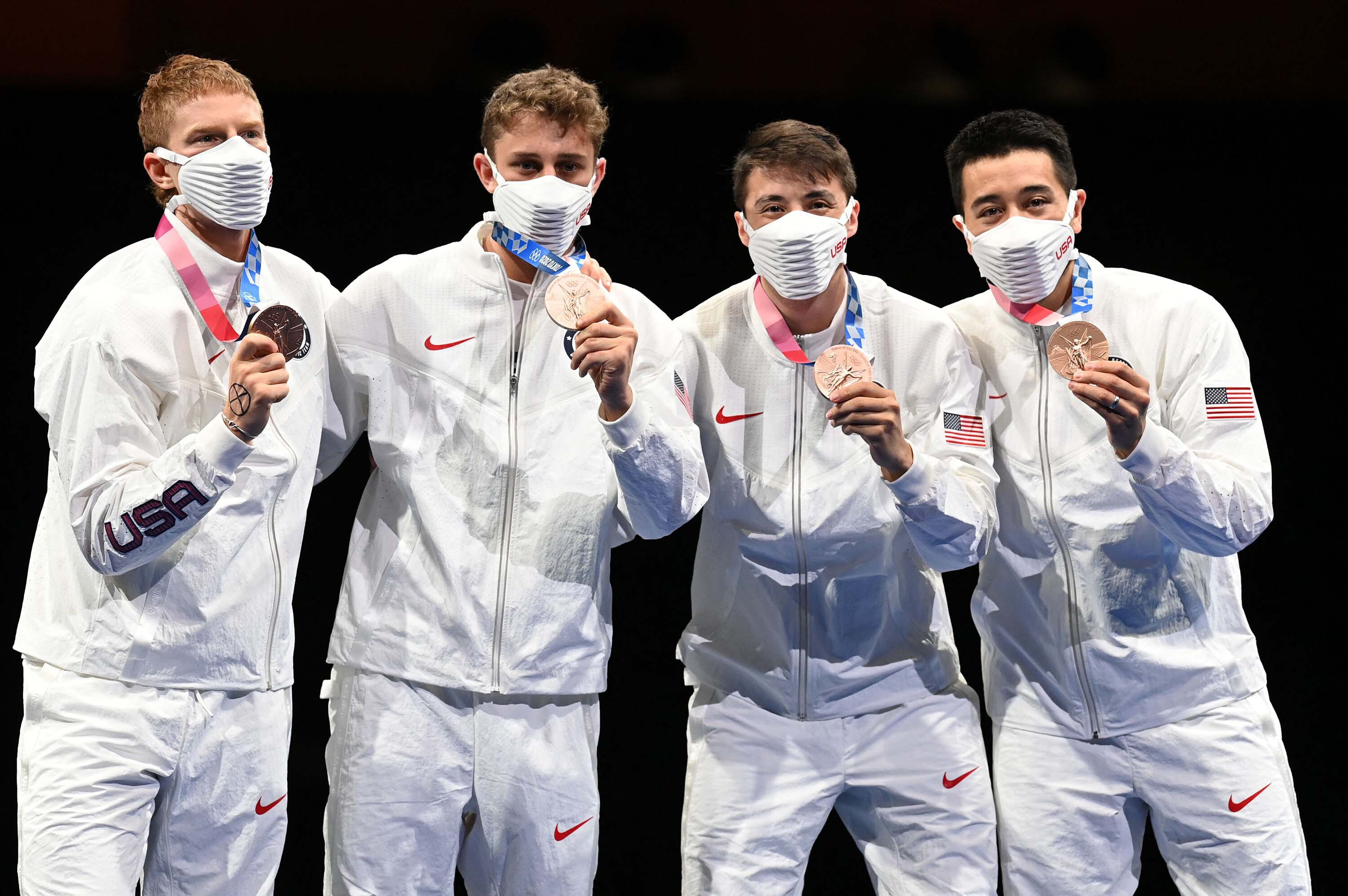 Race Imboden: What US Olympic fencer's black X symbol on his hand means