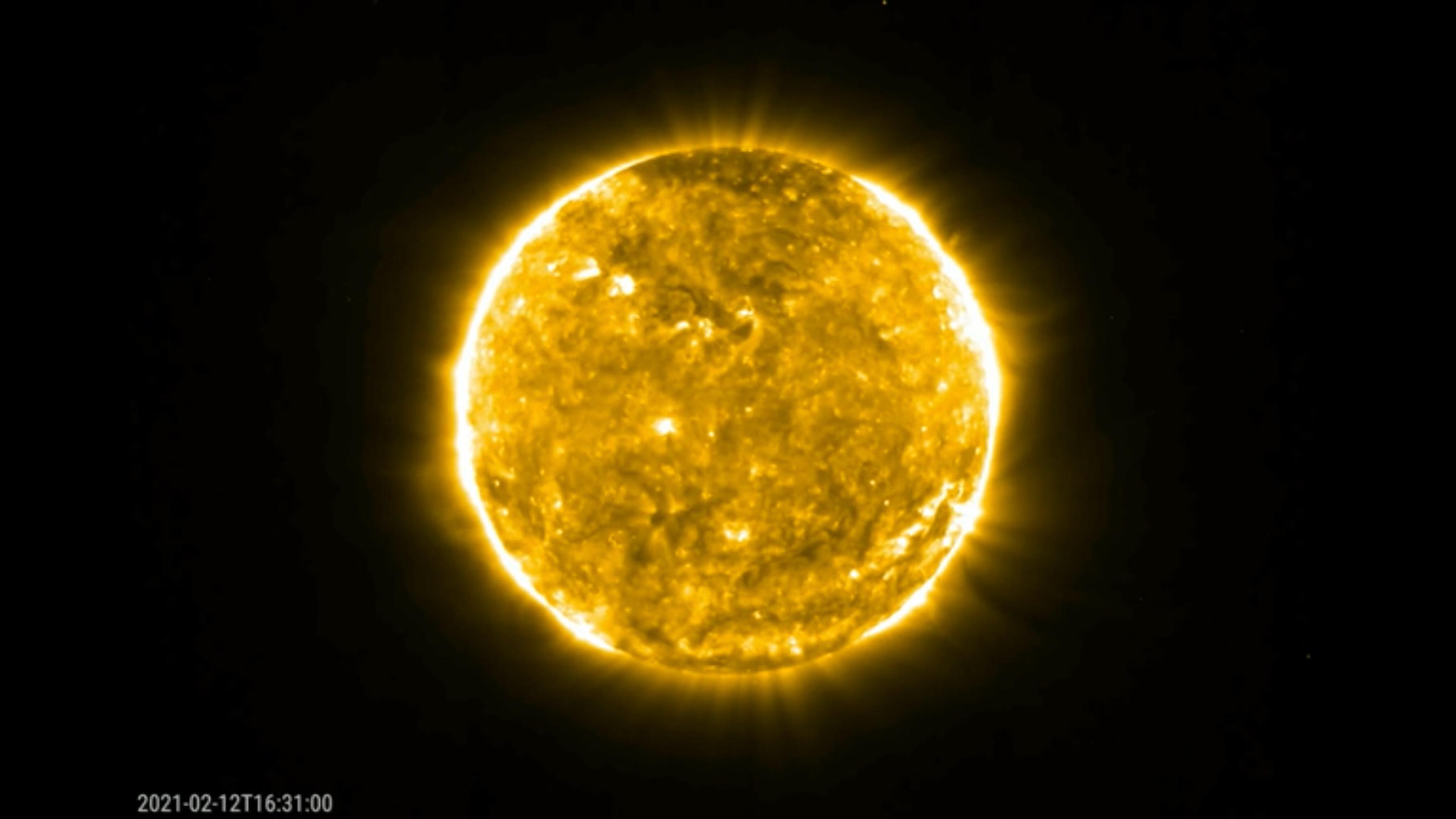 Solar Orbiter mission spots eruption from the sun