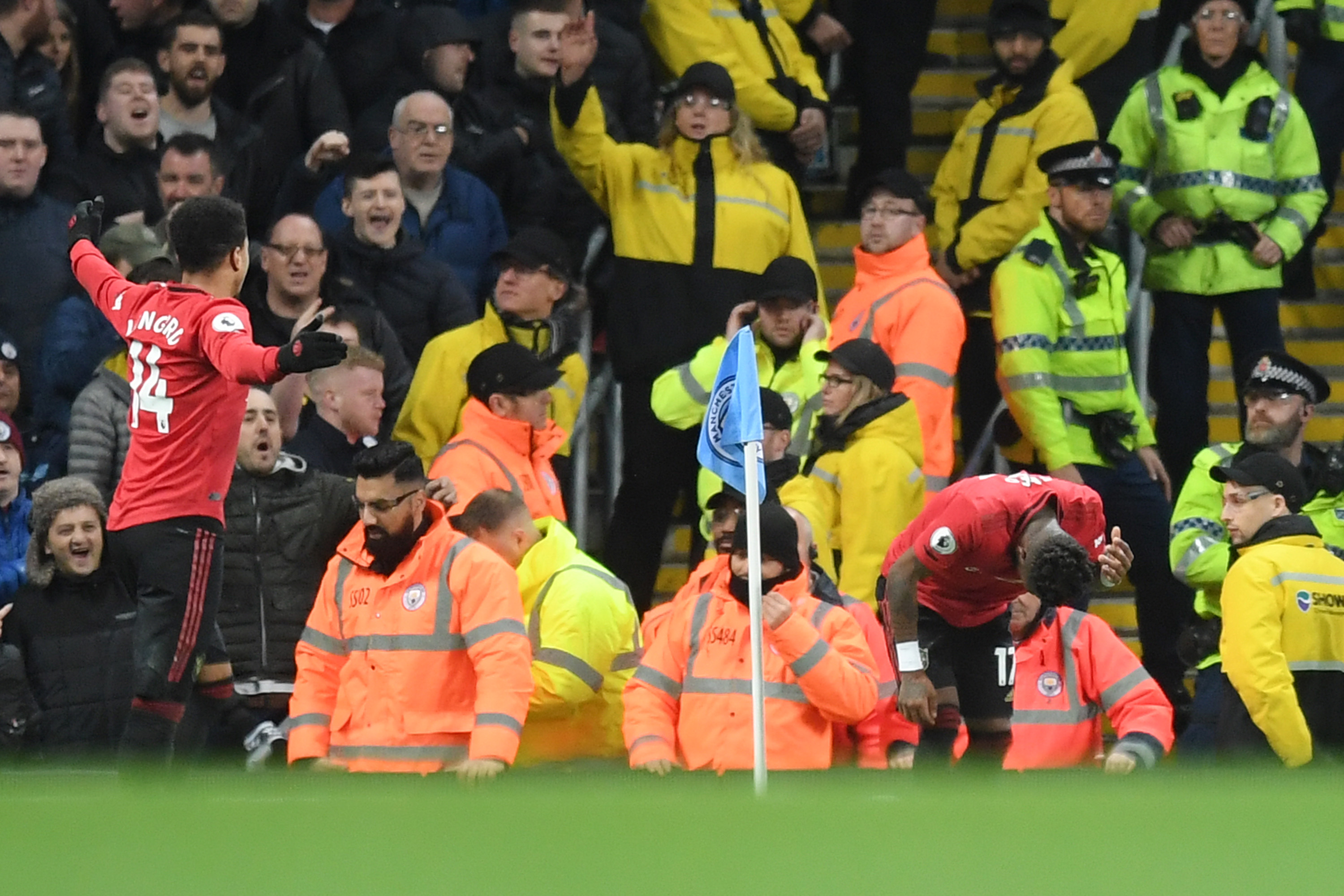 Racist incident mars Manchester derby as United stuns City rivals
