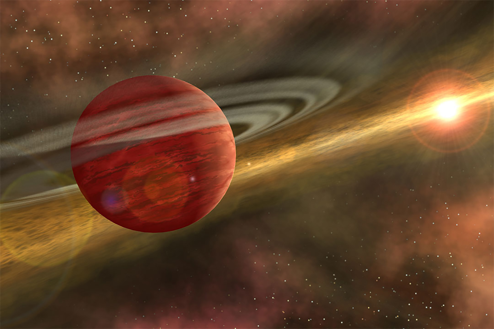Newborn giant planet discovered 330 light-years away