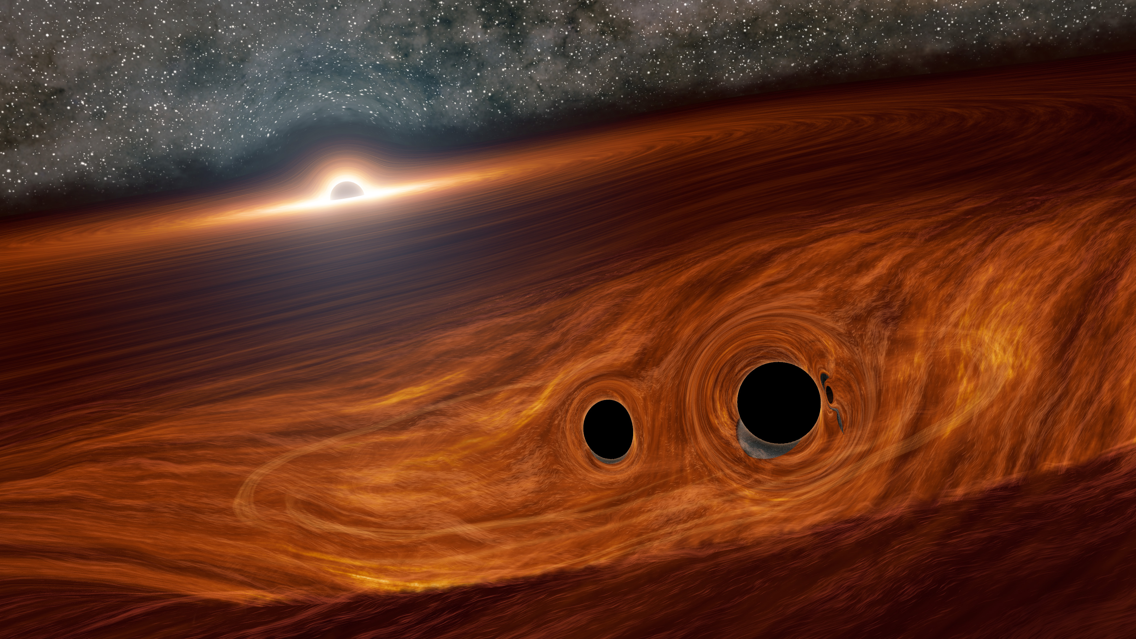 Astronomers may have detected light from colliding black holes for the first time