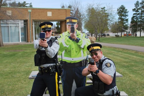 Image for 'Constable Scarecrow:' Police in Canadian town use cutouts of officers to catch speeders